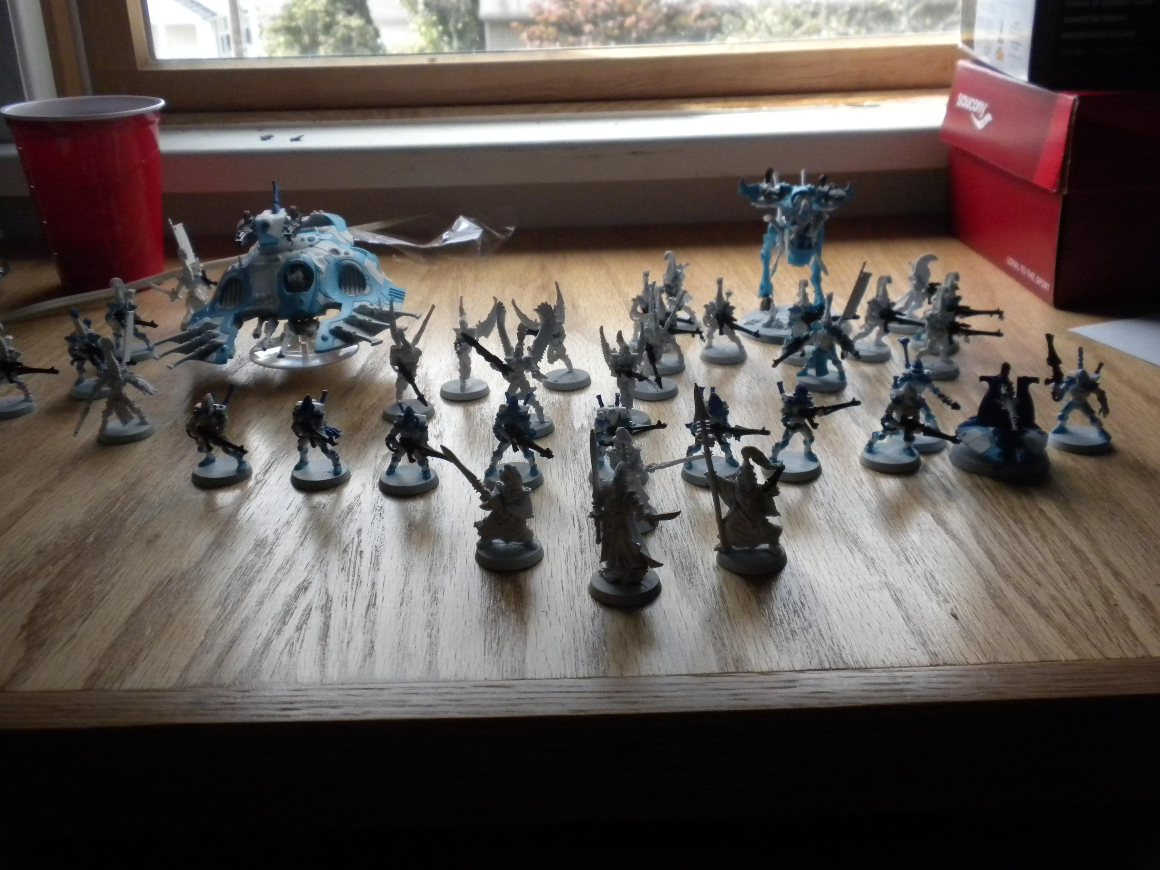 This is my army so far... I primed with white matt army painter. And the only color i really like so far are the guns