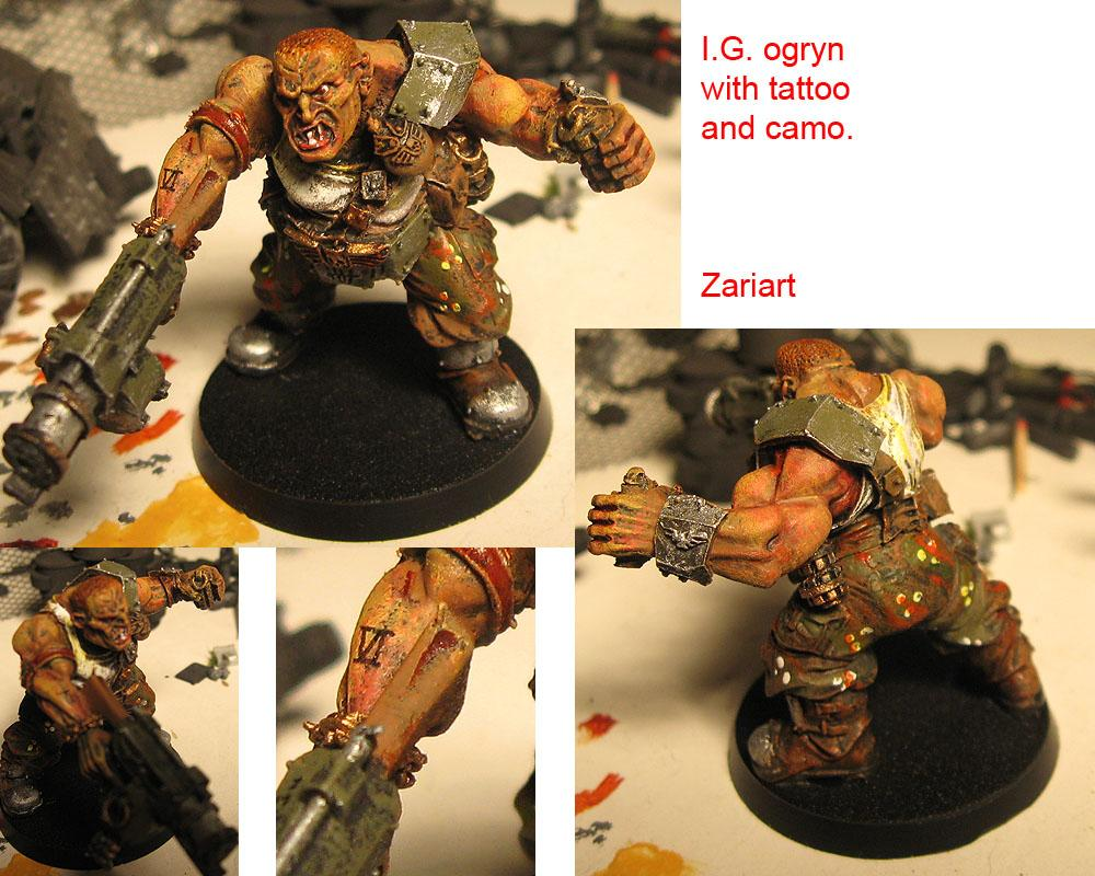 Camouflage, Eye, I.g., Imperial Guard, Ogryns, Tattoo
