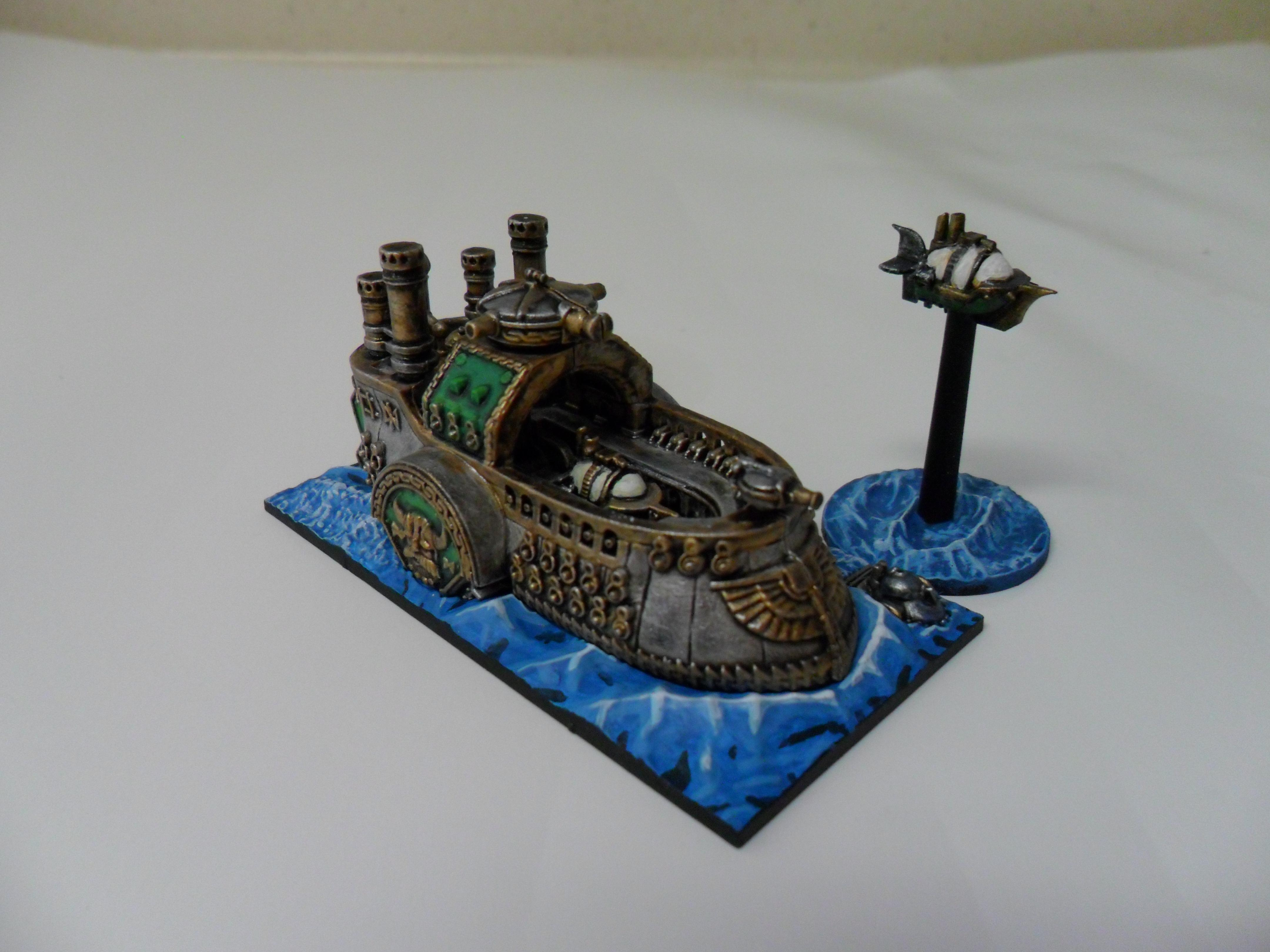 Boat, Dreadfleet, Dwarves, Fleet, Ship, Steampunk