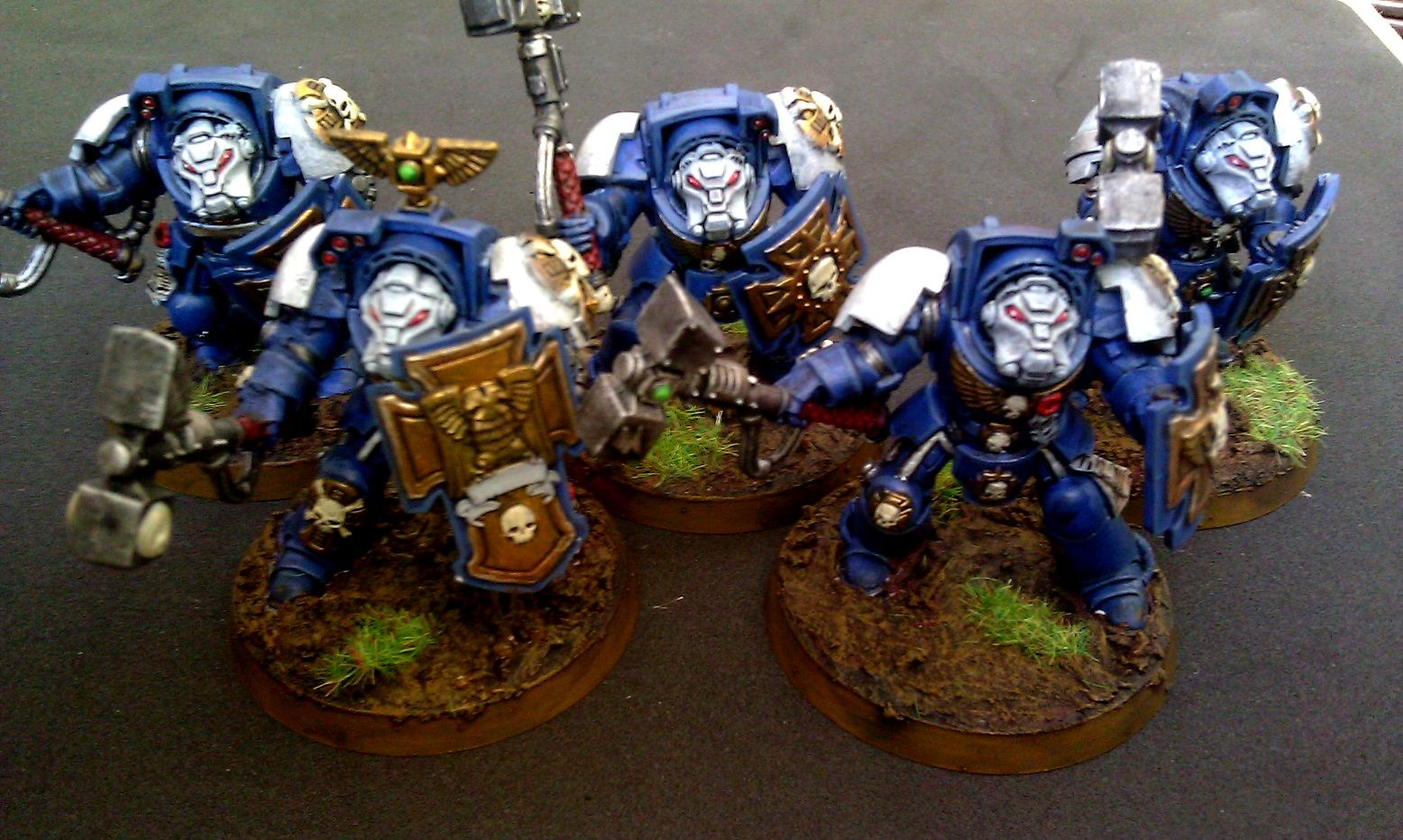 Space Marines, Storm Shield, Terminator Armor, Thunderhammer, Ultra Marines, Ultramarines
