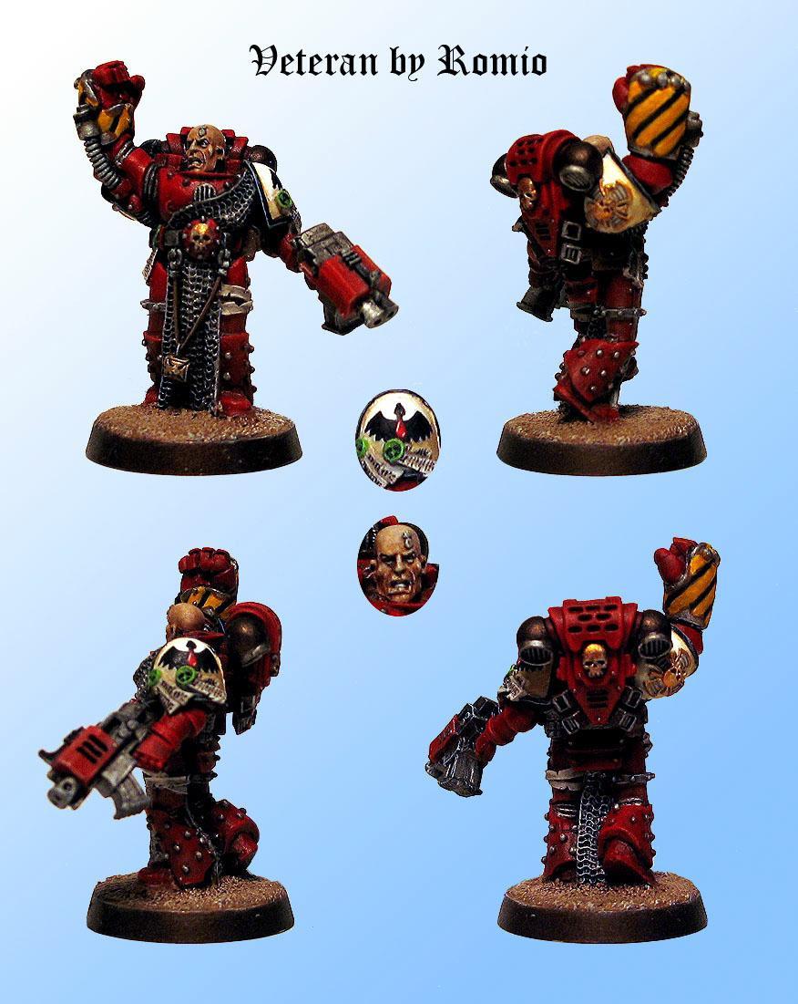 Blood Ravens, Power Fist, Space Marines, Storm Bolter, Veteran, Warhammer 40,000