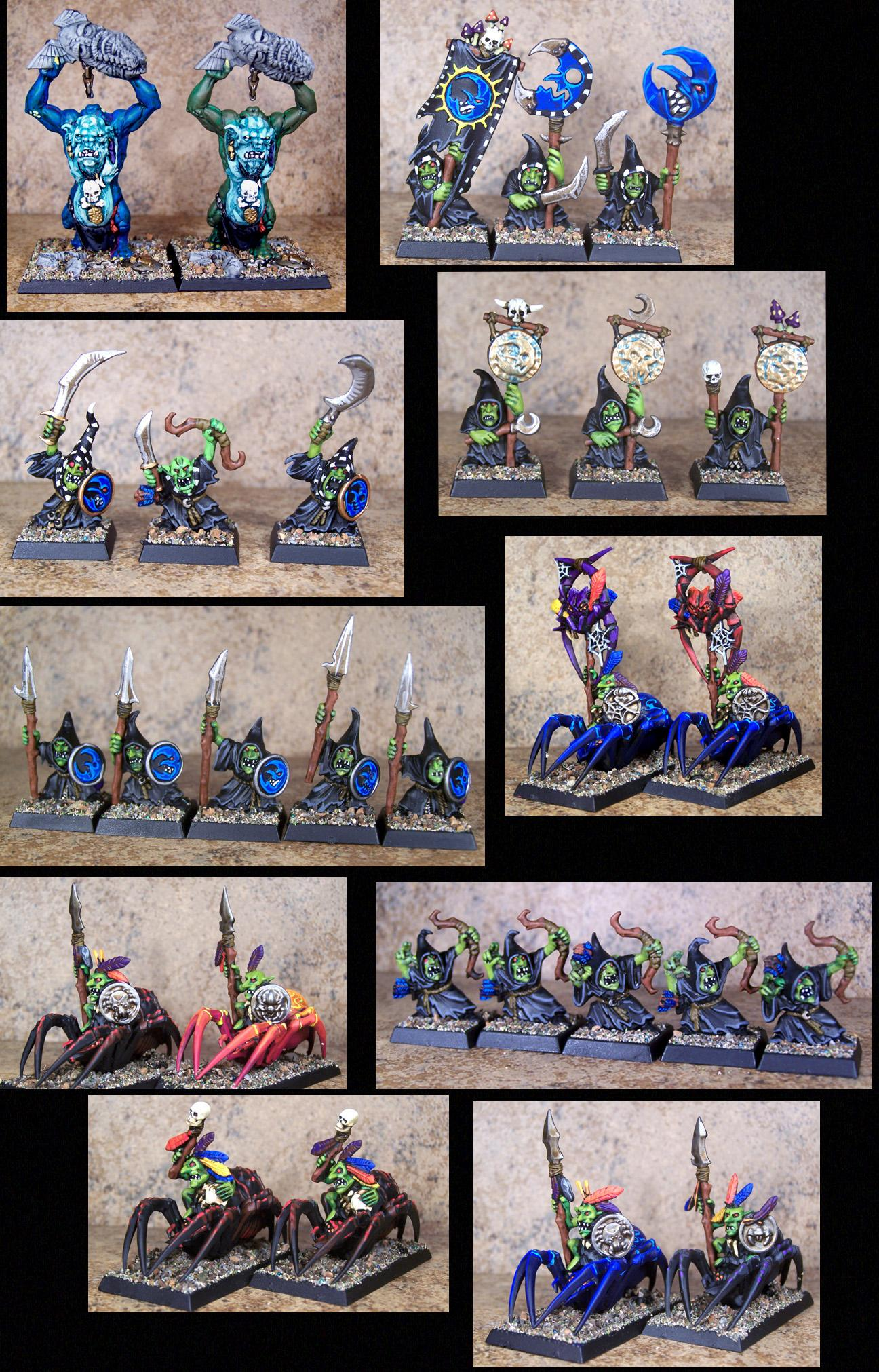 Chaos, Goblins, Gobos, Orcs, Orcs And Goblins, Orks, Pro Painted, Rpg, Warhammer Fantasy