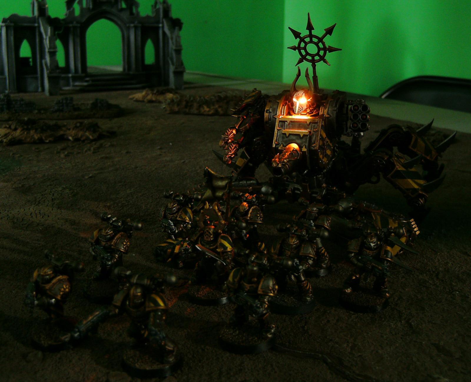 Chaos, Chaos Space Marines, Conversion, Defiler, Homebrew, Iron Marauders, LED, Lights, Ouze, Warhammer 40,000