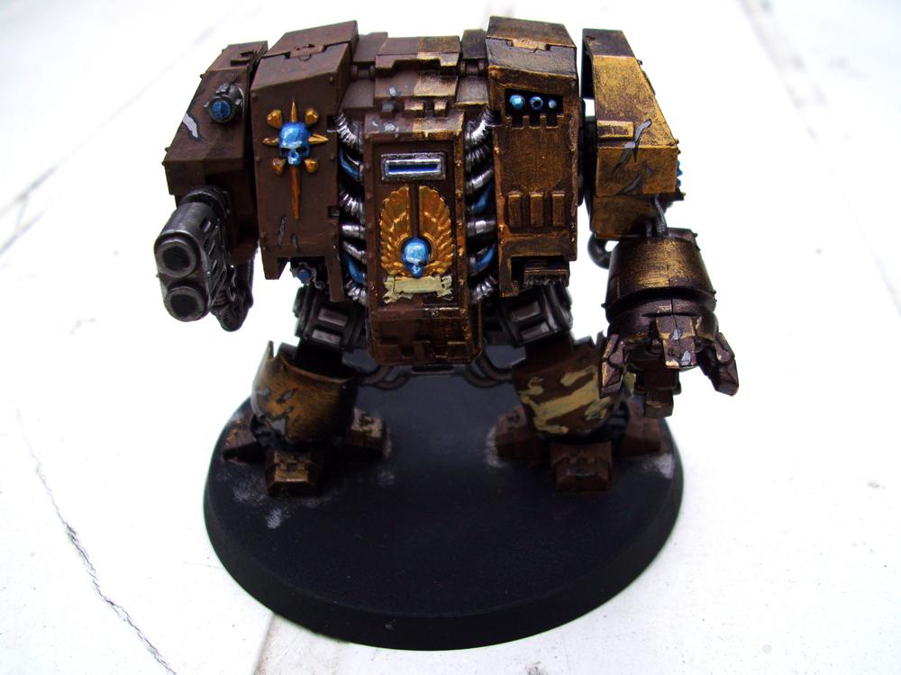 Brown, Dragon, Dreadnought, Gold, Multi-melta, Space, Space Marines