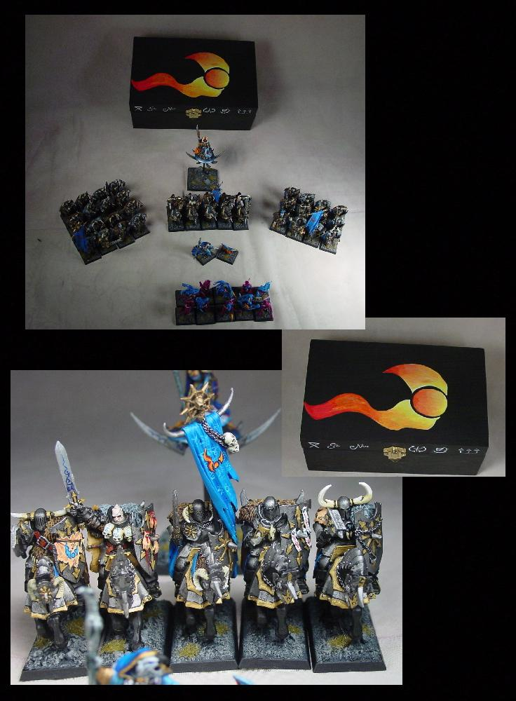 Chaos, Chaos Wariors, Pro Painted, Rpg, Tzeentch, Warhammer Fantasy, Warriors Of Chaos