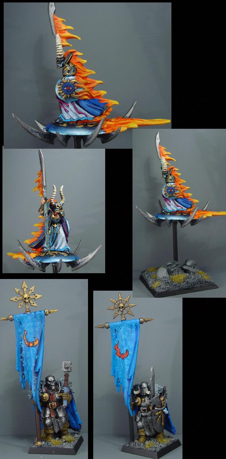 Chaos, Chaos Wariors, Pro Painted, Rpg, Sorcerer, Warhammer Fantasy