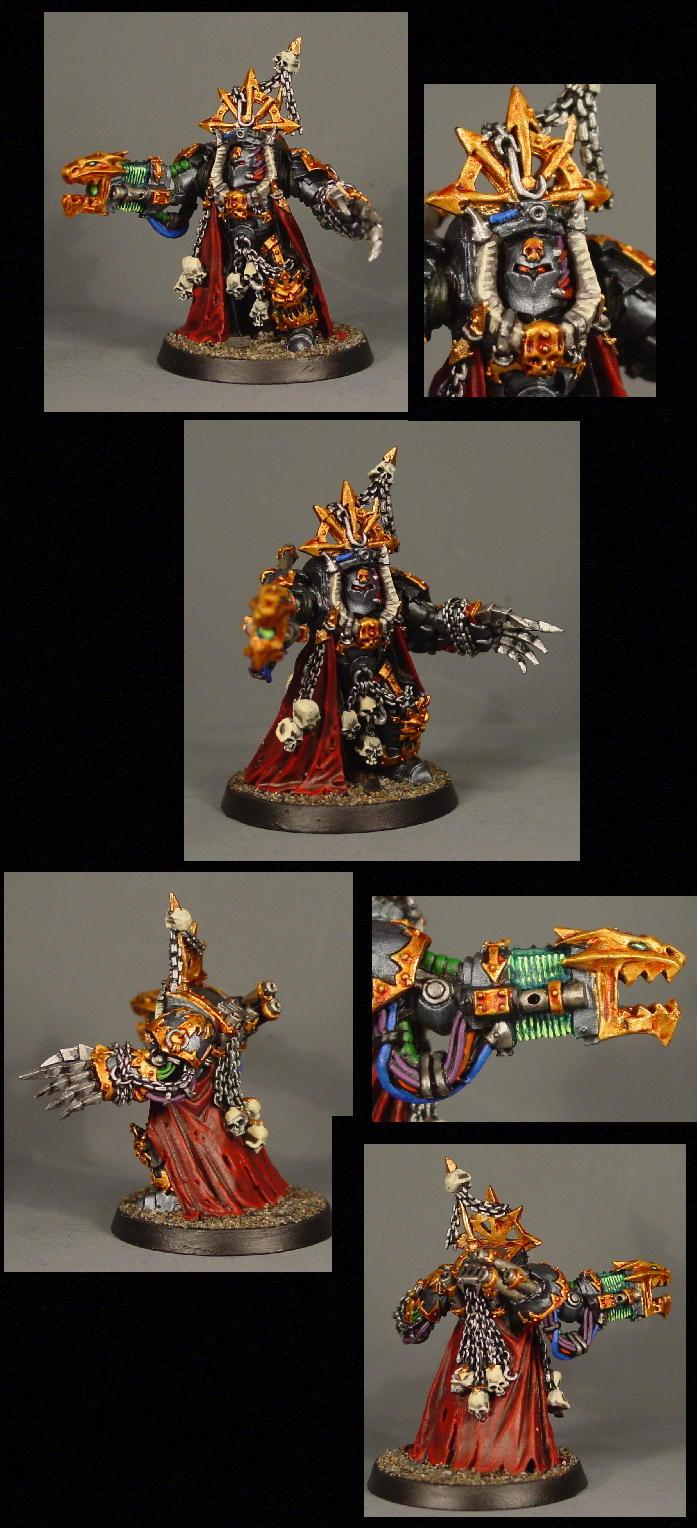 Chaos, Chaos Space Marines, Pro Painted, Terminator Armor, Warhammer 40,000