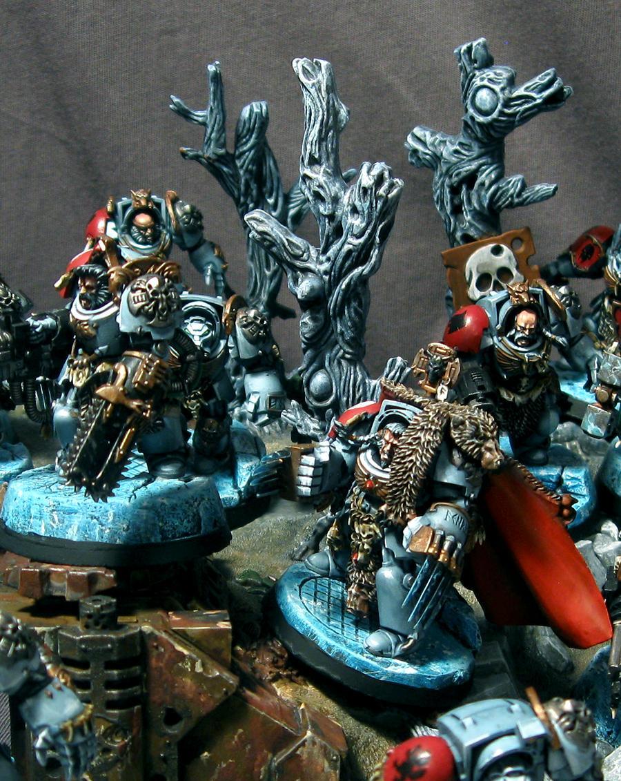 Space Wolves, SW Terminators Zoom