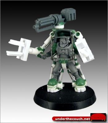 Assault Cannon, Conversion, Exo-suit, Scouts, Scratch Build, Sculpted, Terminator Armor