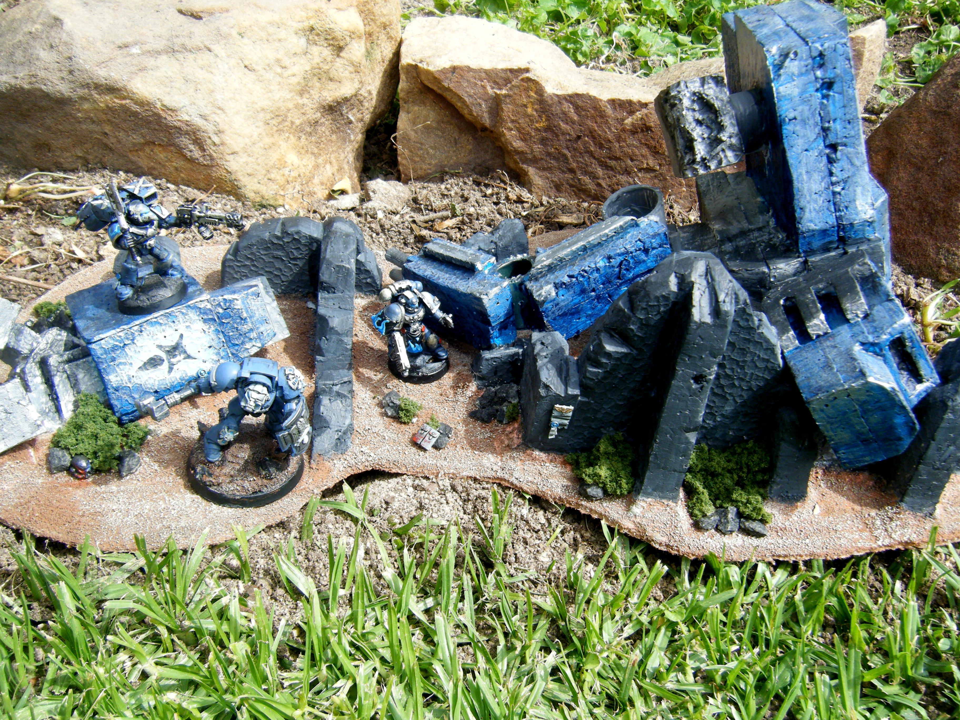 Base, Blue, Destroyed, Grass, Titan