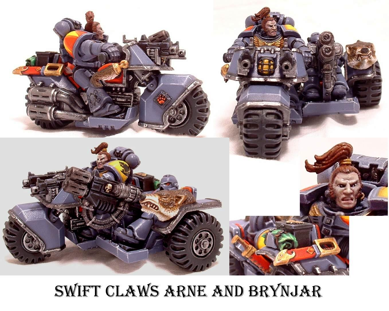 Space Wolves, Swift Claws Attack Bike, Warhammer 40,000