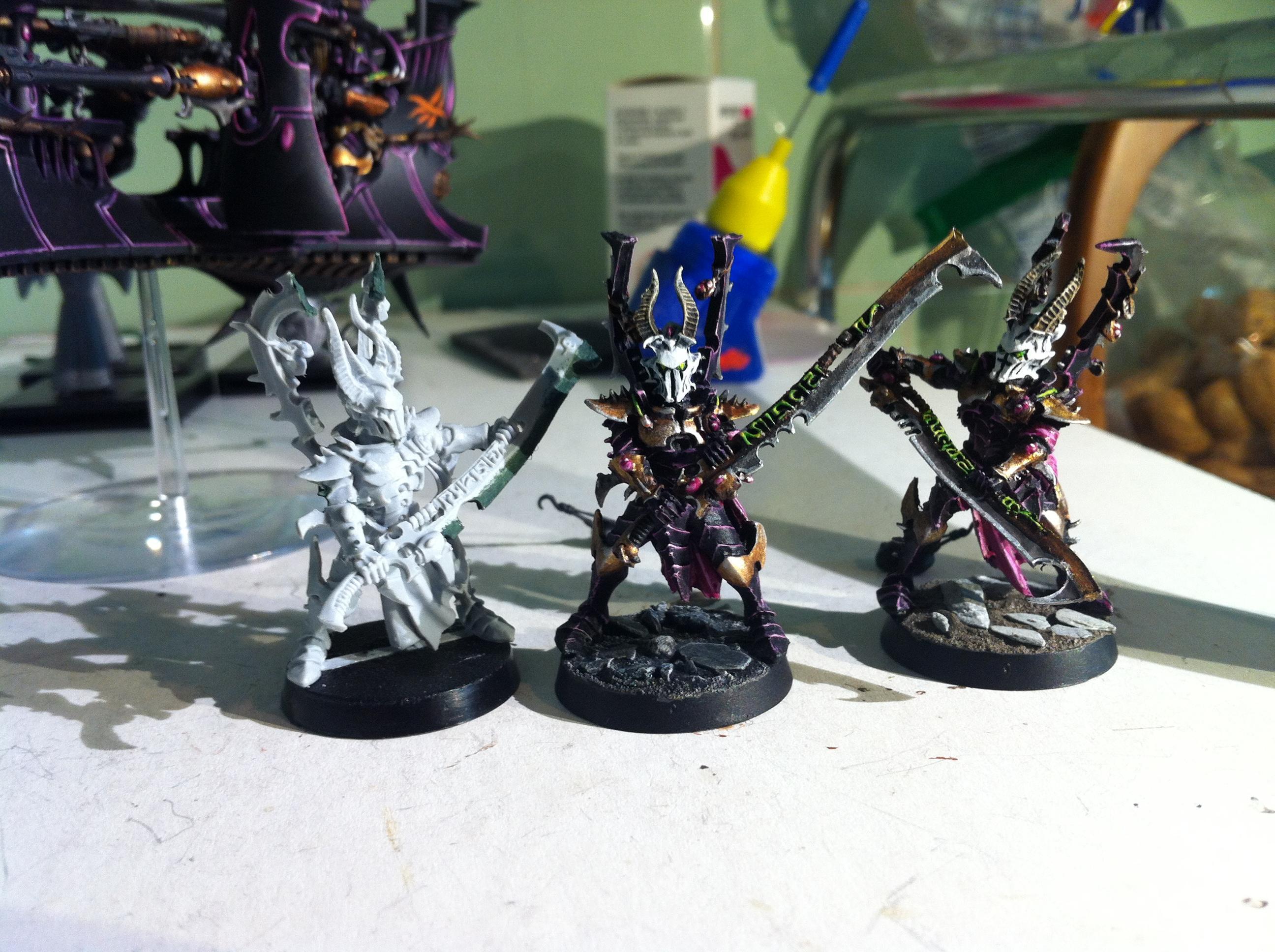 Dark Eldar, Incubi, Work In Progress