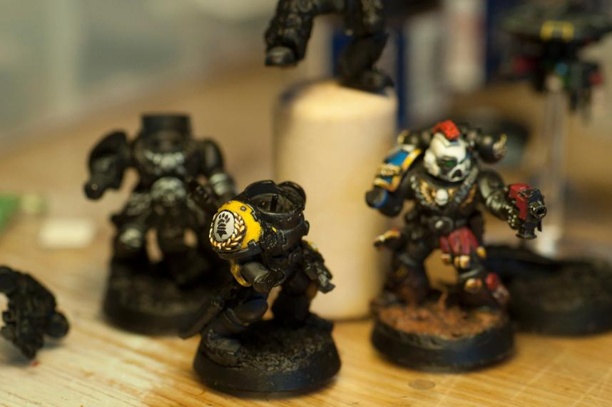 Deathwatch, Freehand, Imperial Fists, Killteam, Shoulderpad