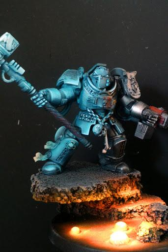 Grey Knights, Lava, Object Source Lighting, Space Marines, Thunder Hammer, Warhammer 40,000