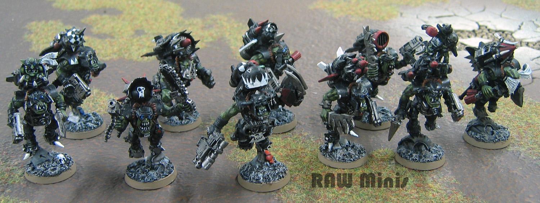 Boy, Jump Pack, Mob, Orks, Painting, Stormboyz, Warhammer 40,000