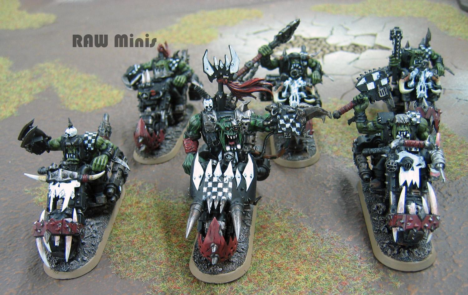 Bike, Boy, Conversion, Mob, Nob, Orks, Painboy, Painting, Warbike, Warbikers, Warboss, Warhammer 40,000