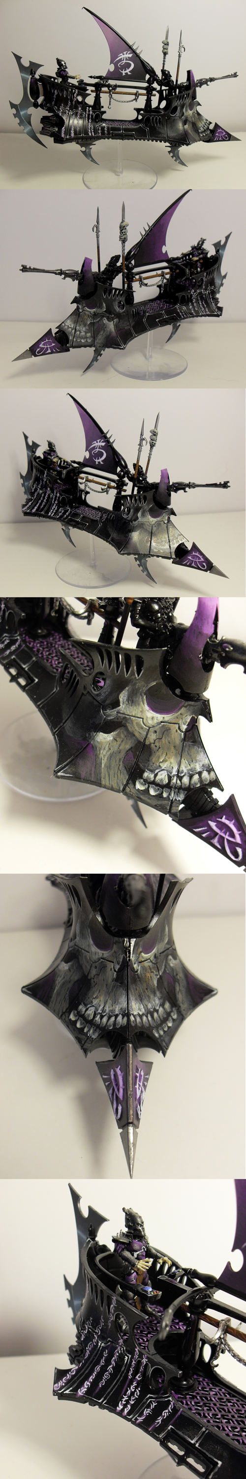 Blending, Dark, Dark Eldar, Freehand, Non-Metallic Metal, Raider, Skull, Vehicle, Warhammer 40,000