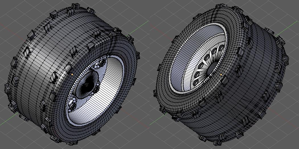 3d Modelling, Wheel, Wheel - fifth attempt!