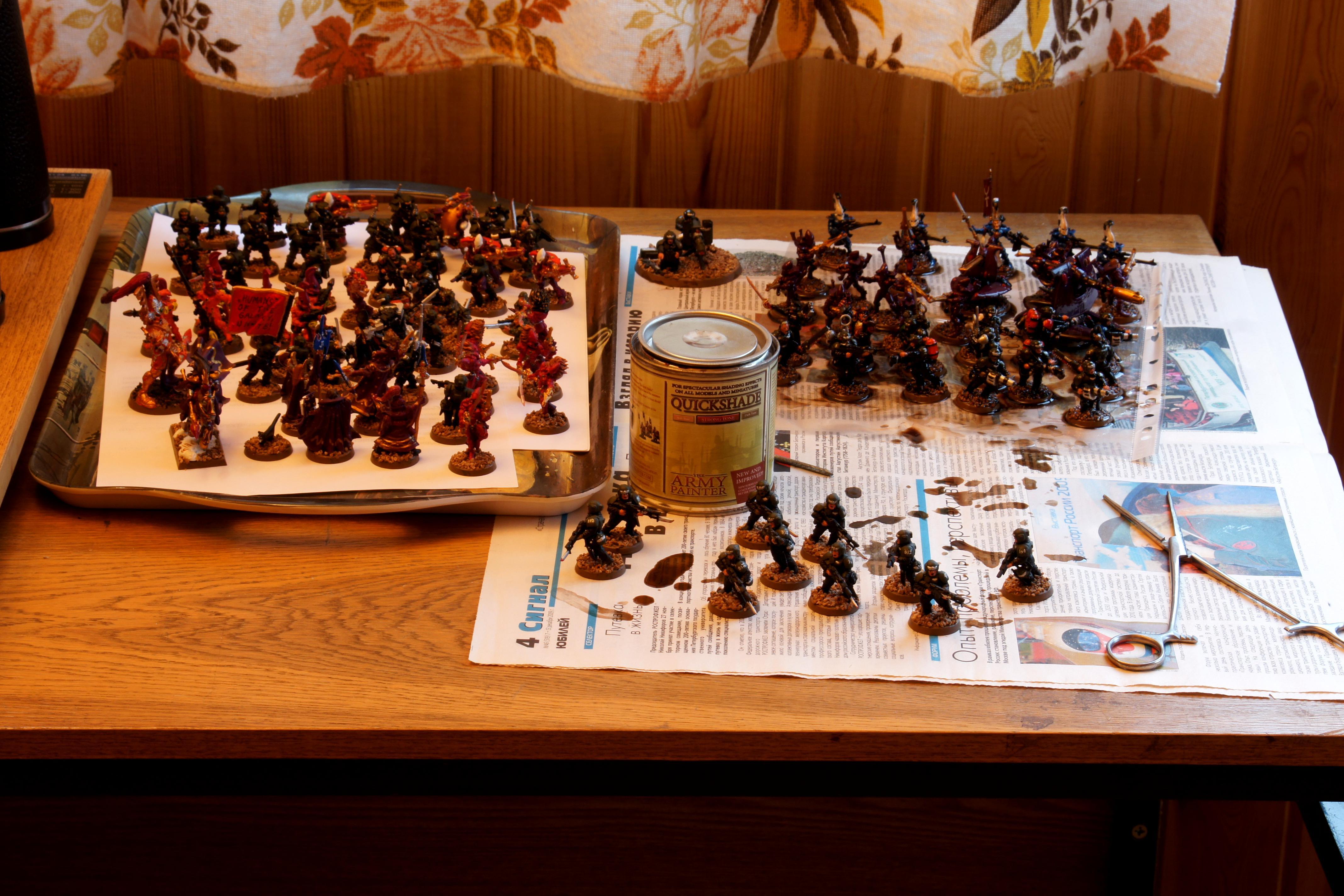 Army Painter, Astra Militarum, Eldar, Imperial Guard, Quickshade