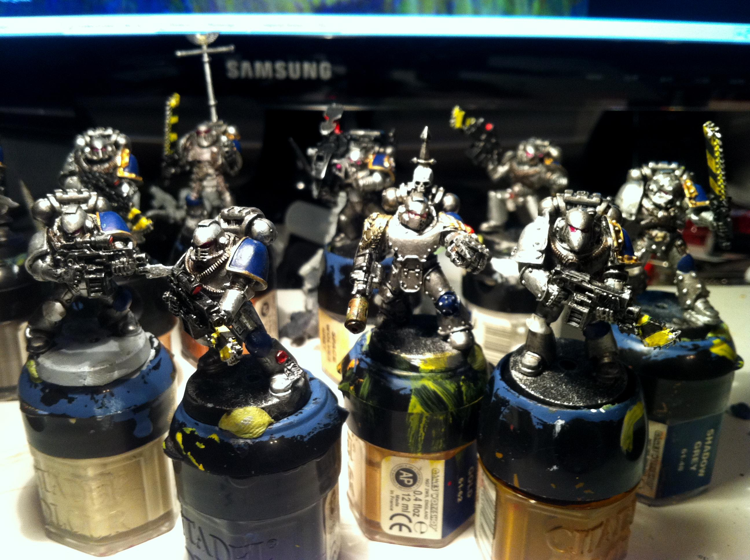 Astral Claws, In Progress, Painted, Space Marines, Tactical Squad