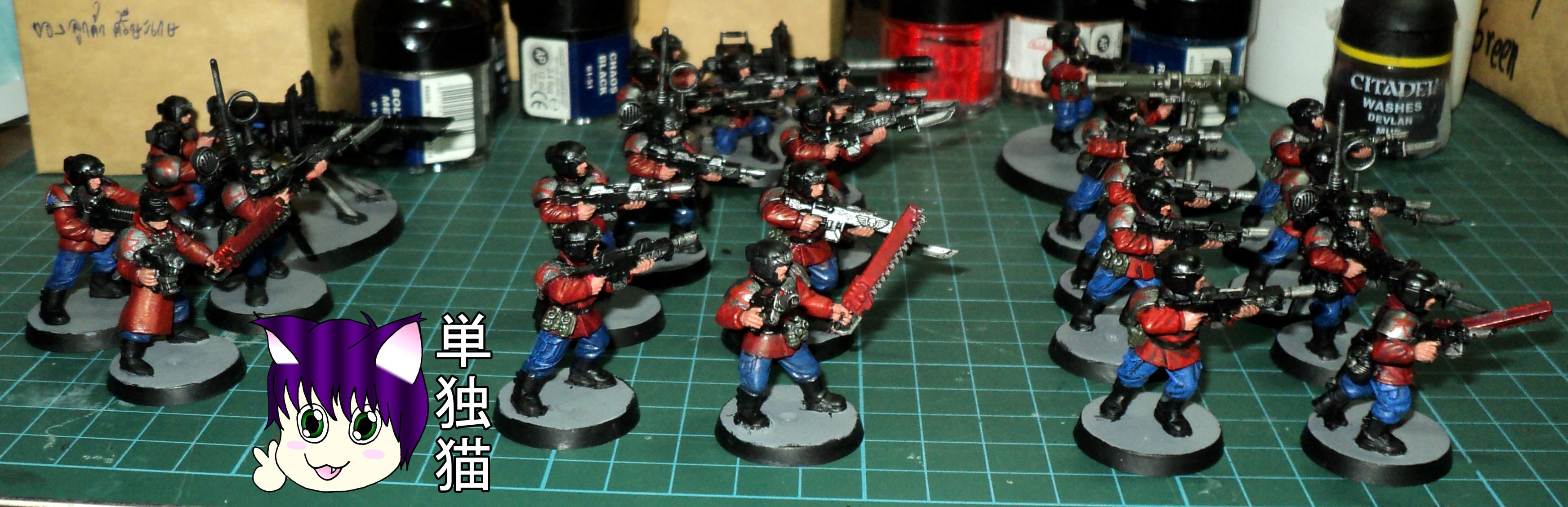 Imperial Guard, Lone Cat, Platoon, Red Shirts