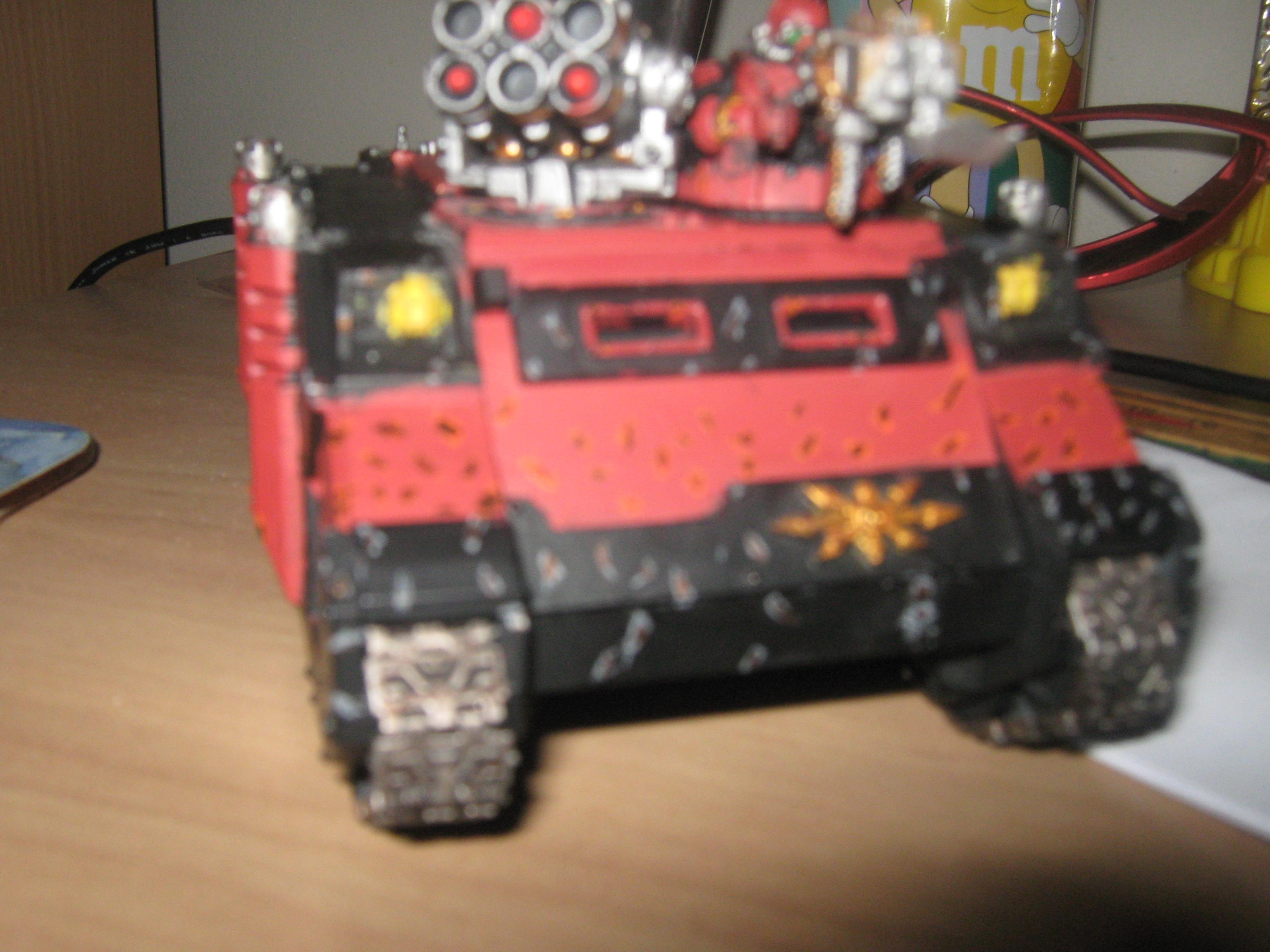 Rhino front with chipped paint effect