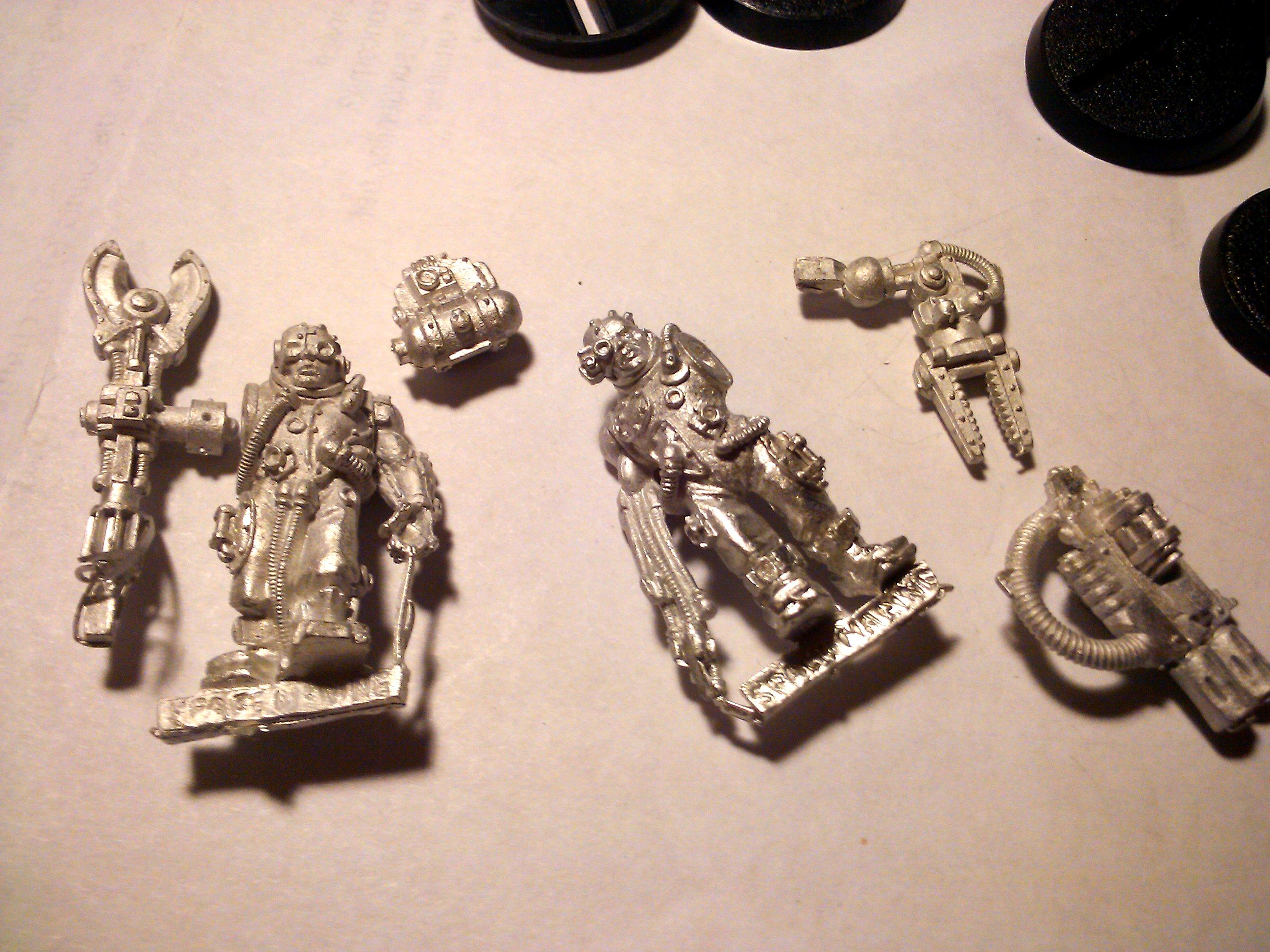 Conversion, Imperial Guard, Mordian Iron Guard, Paint Scheme, Servitors, Warhammer 40,000