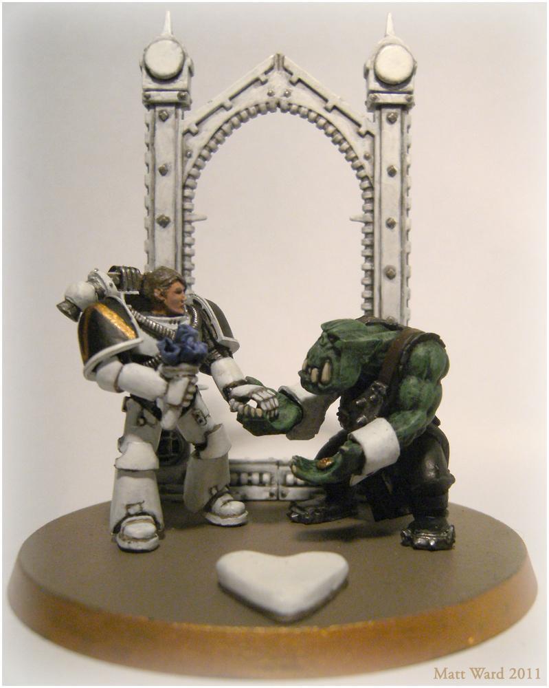 Orks, Space Marines, Wedding - Wedding Cake Topper - Gallery ...