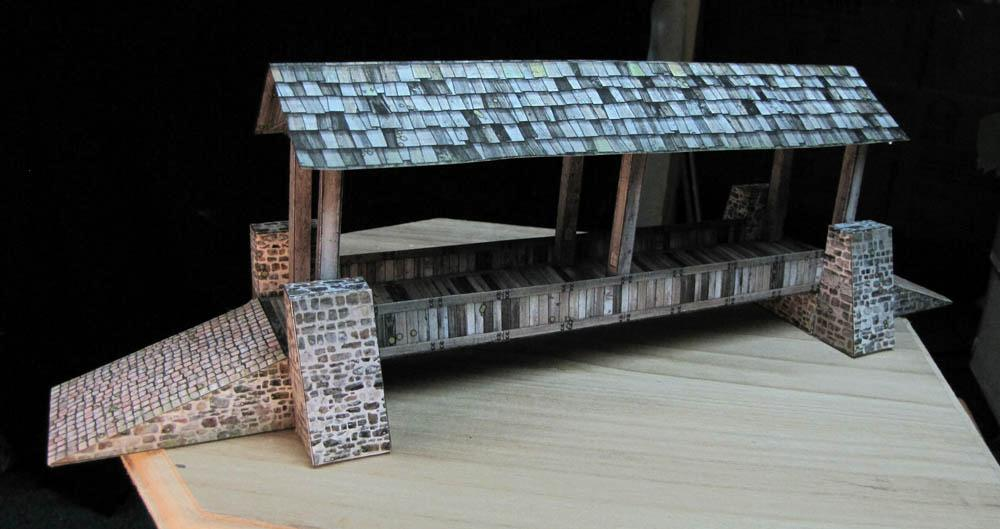 Bridge, Buildings, Dave Graffam, Daves Games, House, Inventors, Papercraft, Terrain