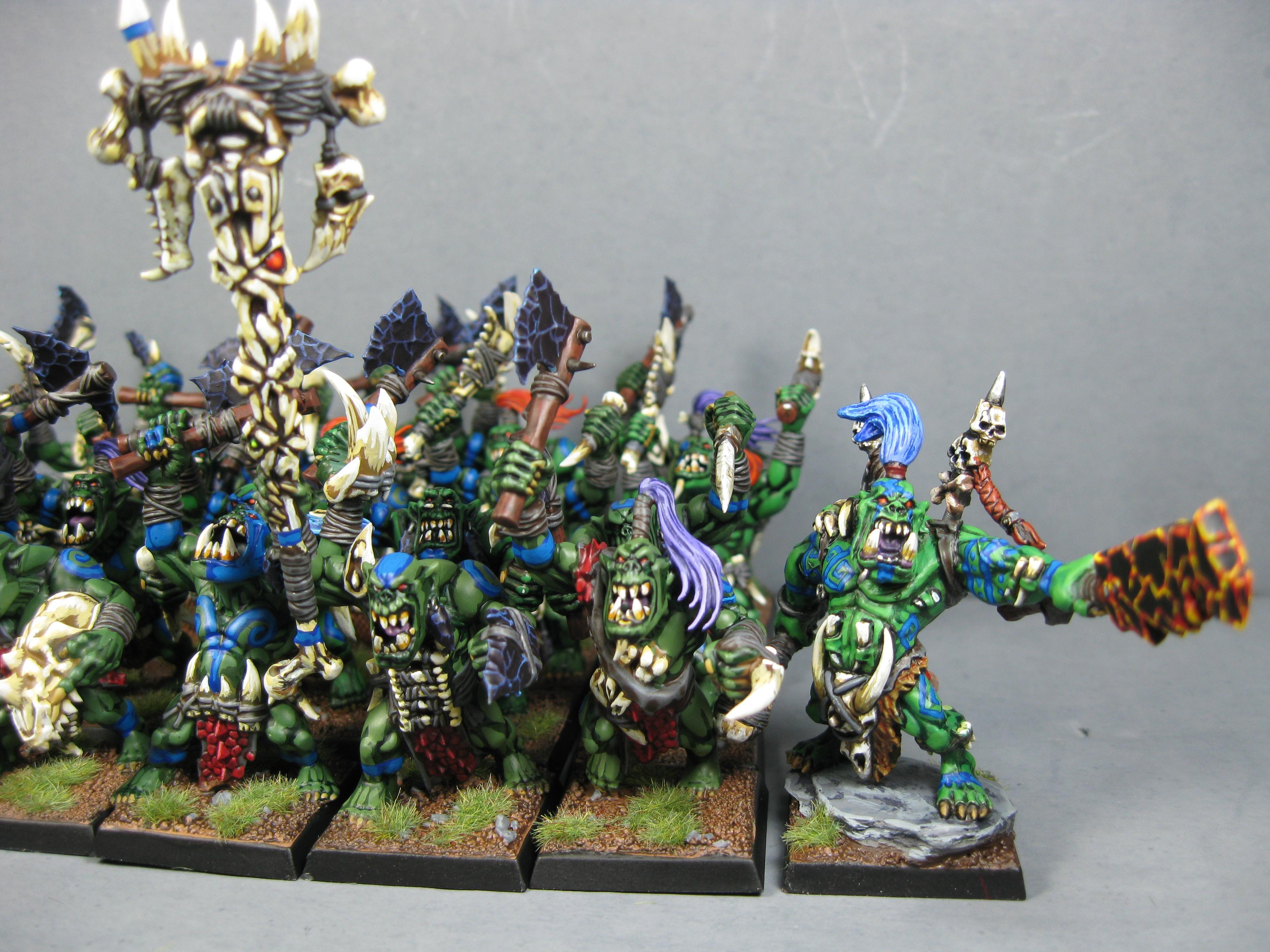 Goblins, Gobos, Orcs, Orcs And Goblins, Orks, Pro Painted, Rpg, Warhammer Fantasy