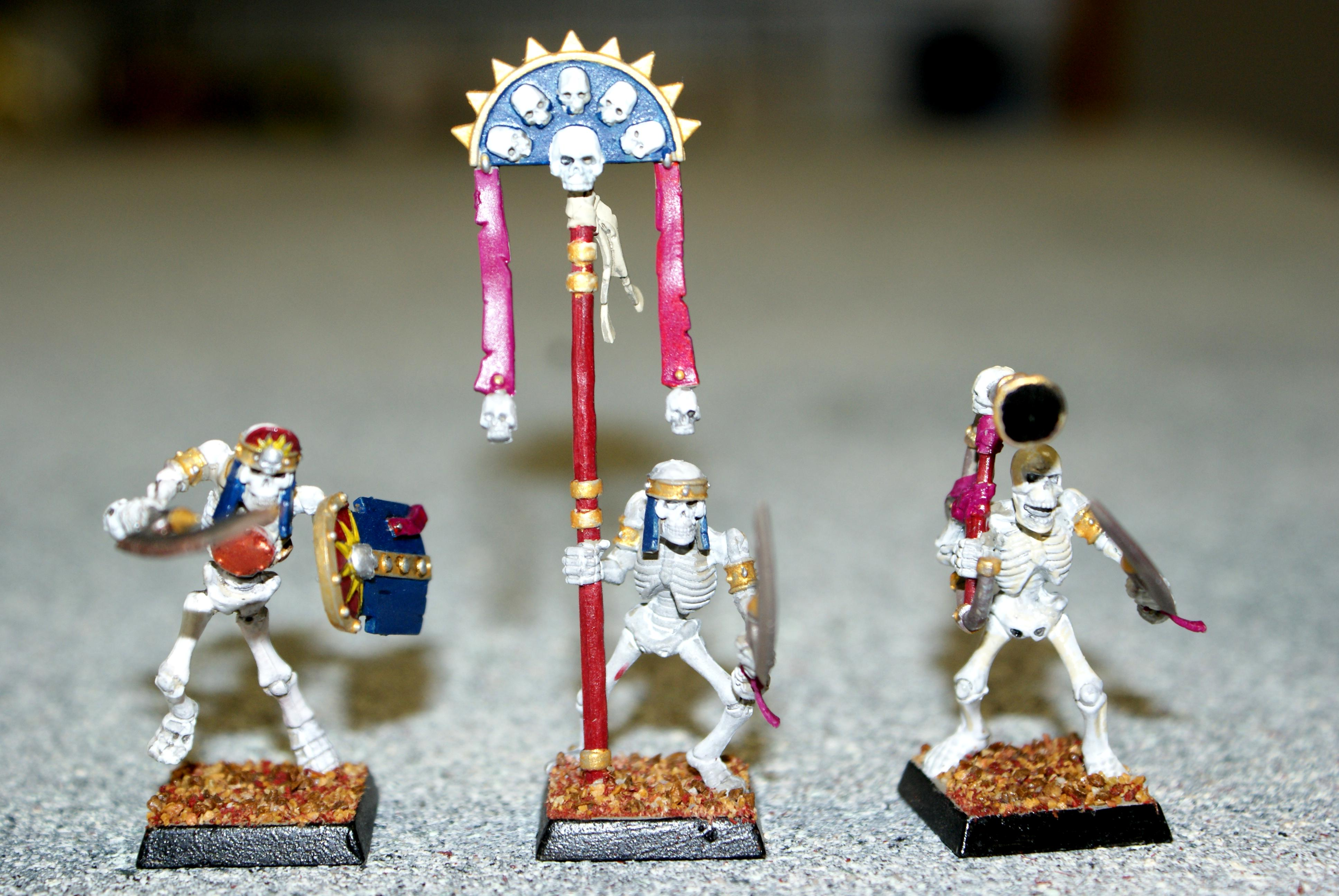 Skeletons, Tomb Kings, Warhammer Fantasy, Warriors