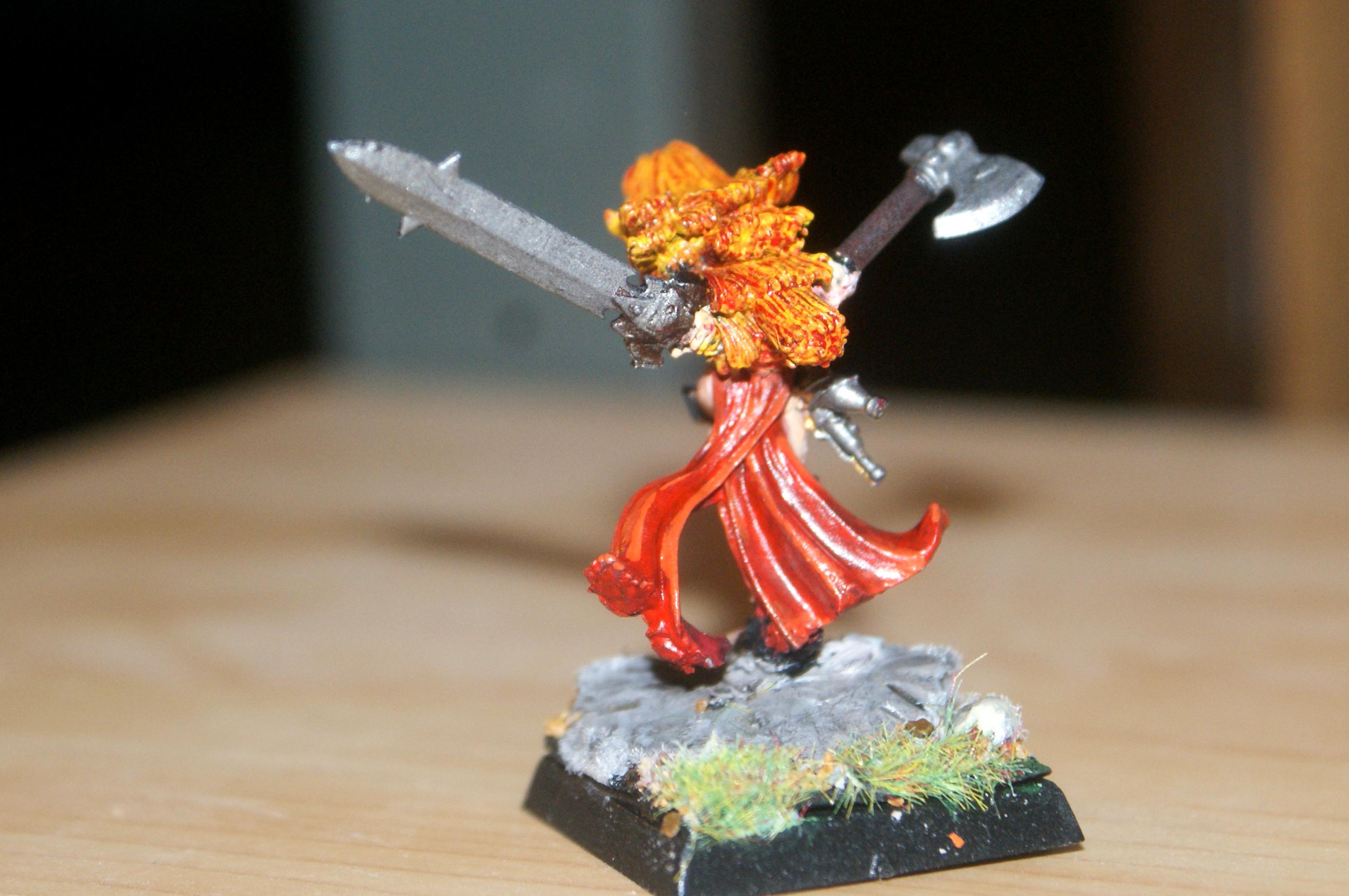 Chaos Lord, Conversion, Hand Weapons, Reaper, Warbride Of Khorne, Warhammer Fantasy, Warriors Of Chaos