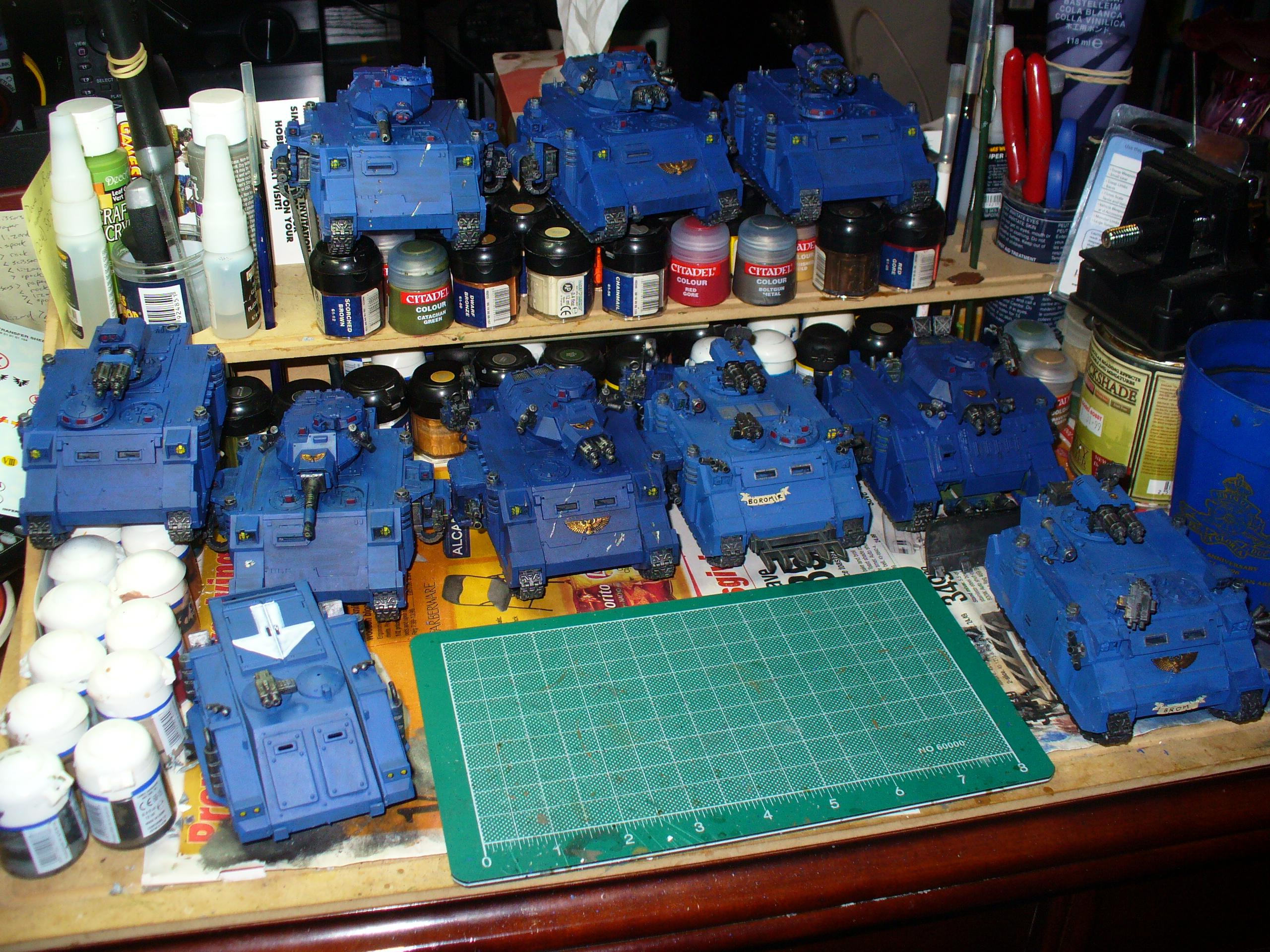Group shot of all the new Ultramarine vehicles
