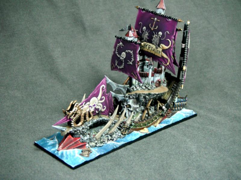 Dark Elves, De, Sea, The Losthobbit, Warhammer Fantasy, Warship
