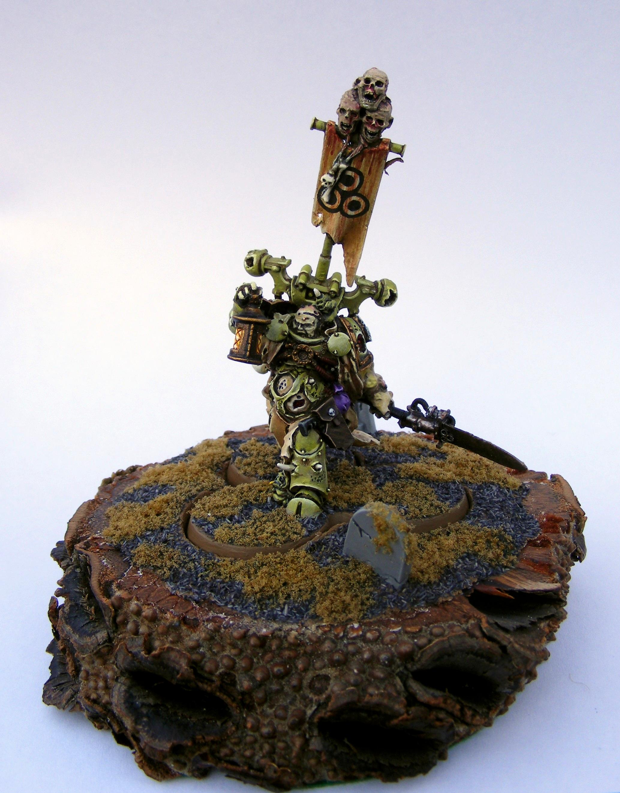 Chaos, Chaos Space Marines, Death Guard, Nurgle, Sorcerer, Warhammer 40,000