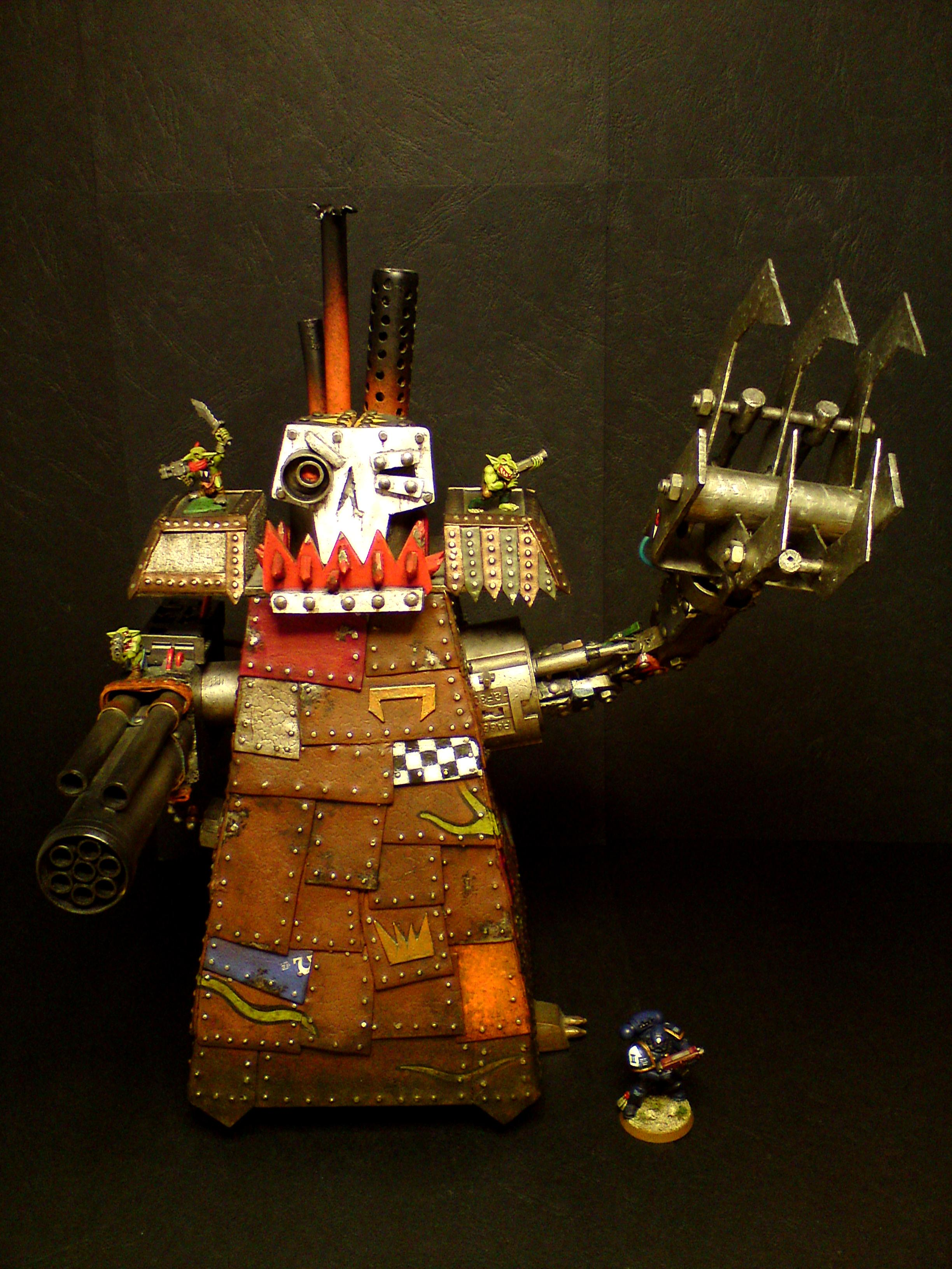 Orks, Scratch Build, Stompa, Warhammer 40,000