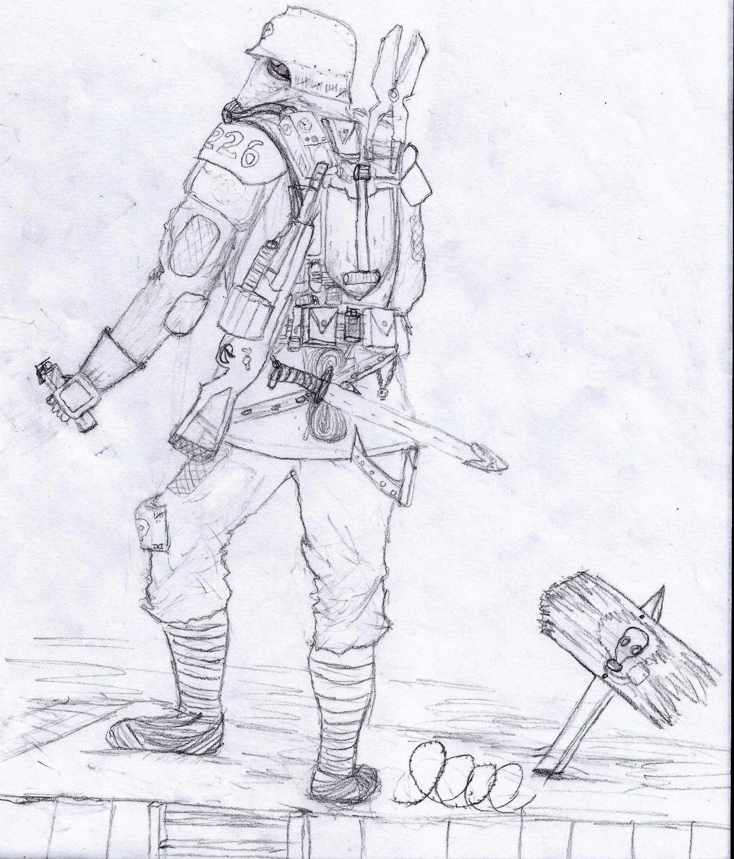 Artwork, Death Korps of Krieg, Freehand, Imperial Guard