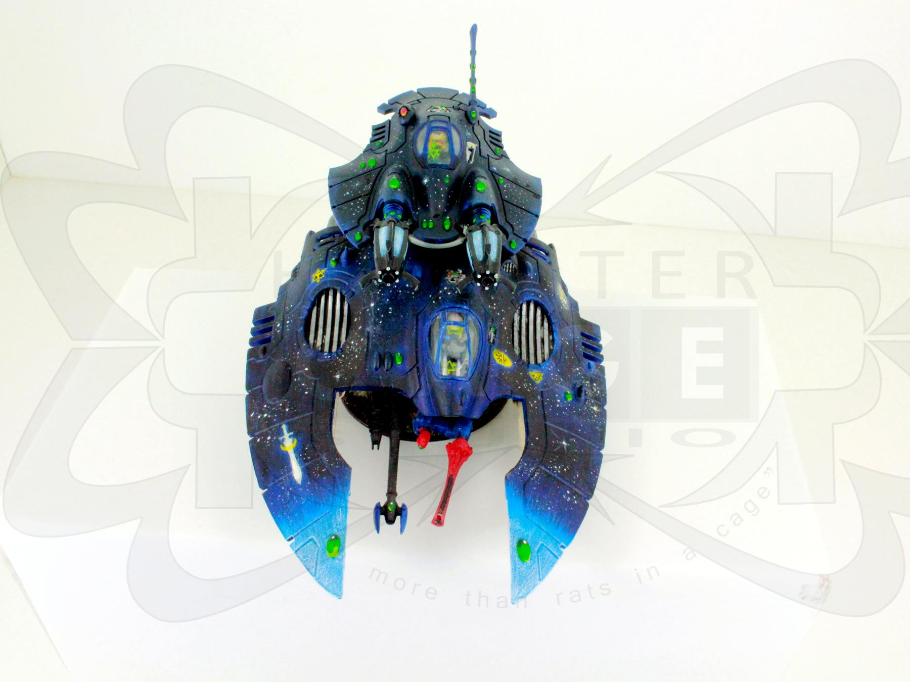 Conversion, Eldar, Eldar Jetbike, Eldar Nightspinner, Eldar Wave Serpent, Freehand, Mural, Nightspinner, Tank, Warlock