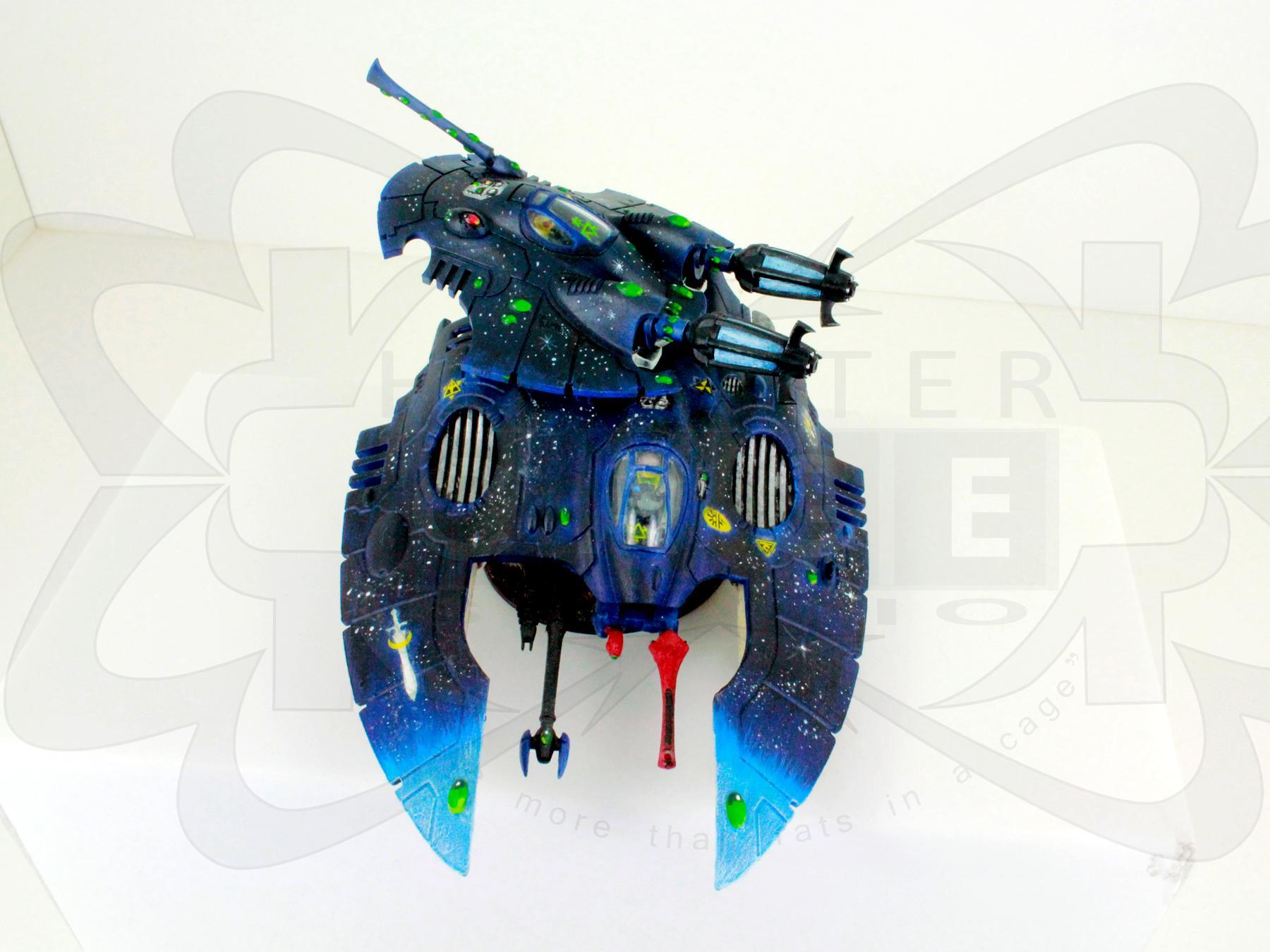 Conversion, Eldar, Eldar Jetbike, Eldar Nightspinner, Eldar Wave Serpent, Fast, Freehand, Mural, Nightspinner, Skimmer, Tank, Warlock