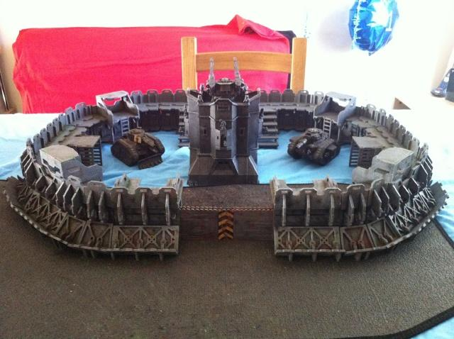 Fortress, Terrain, Complete fortress with level 2 upgrade kit. It's big eh?