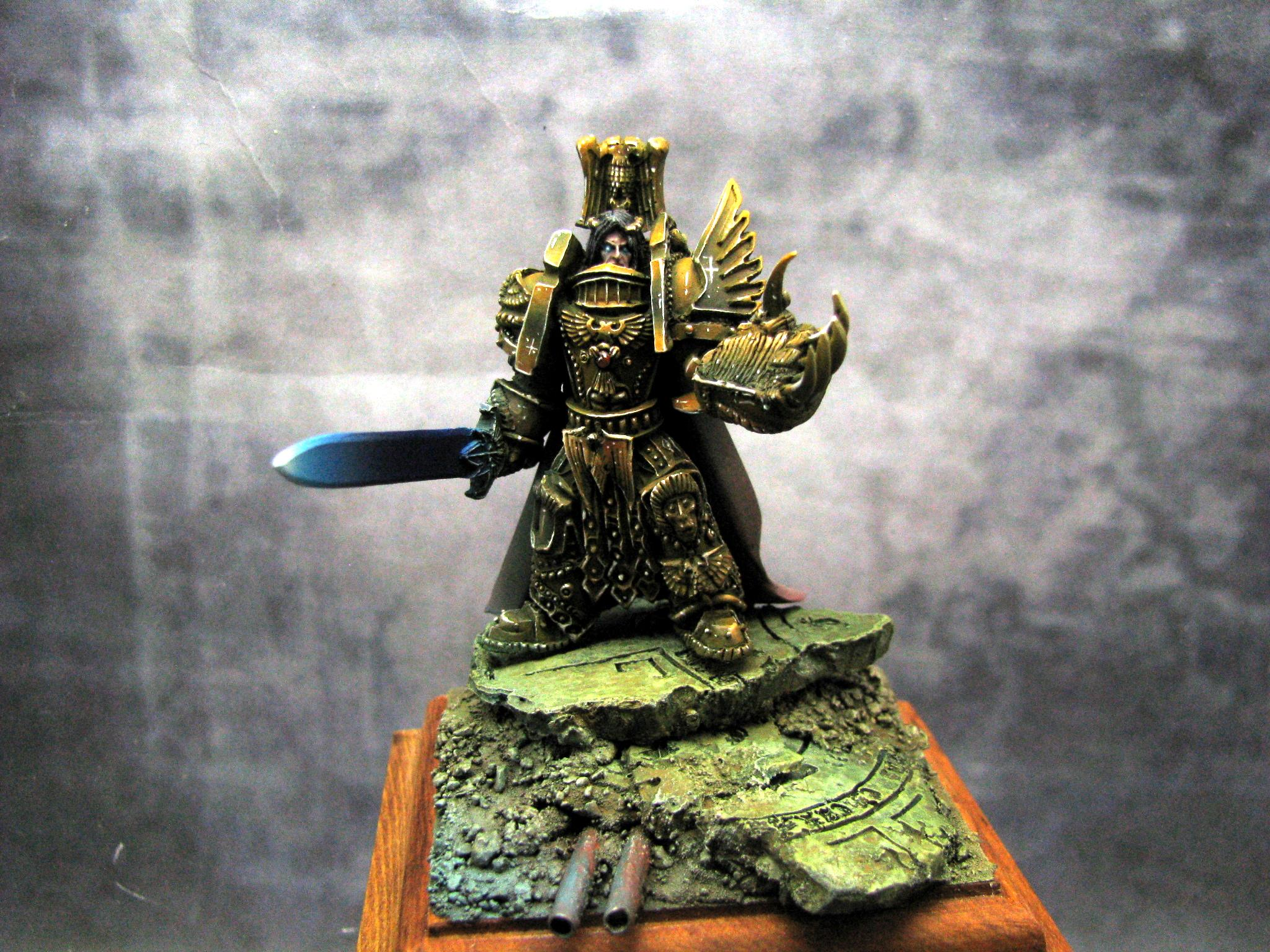 Awesome, Emperor, Horus Heresy, Imperial, Painted, Power Armour, Power Fist, Power Weapon, Pre-heresy, Rubble, Ruins, Warhammer 40,000