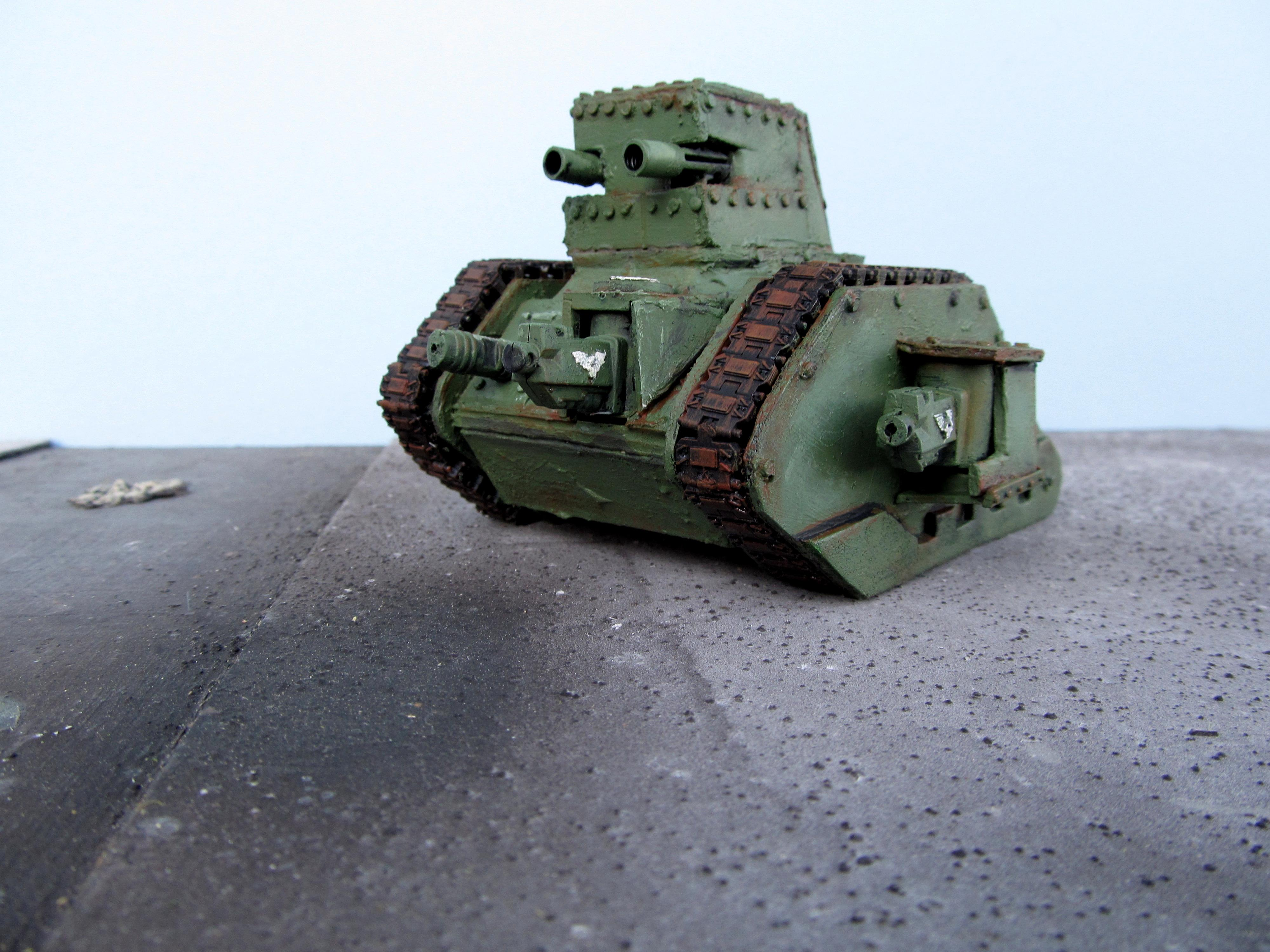 Armored Vehicle, Imperial Guard, Leman Russ, Scratch Build, Tank