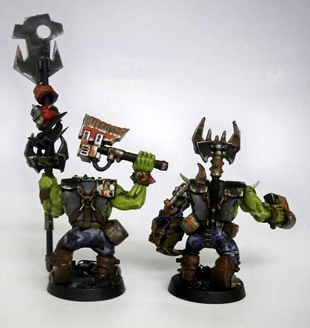 Blood Axe Ork Nobz WIP