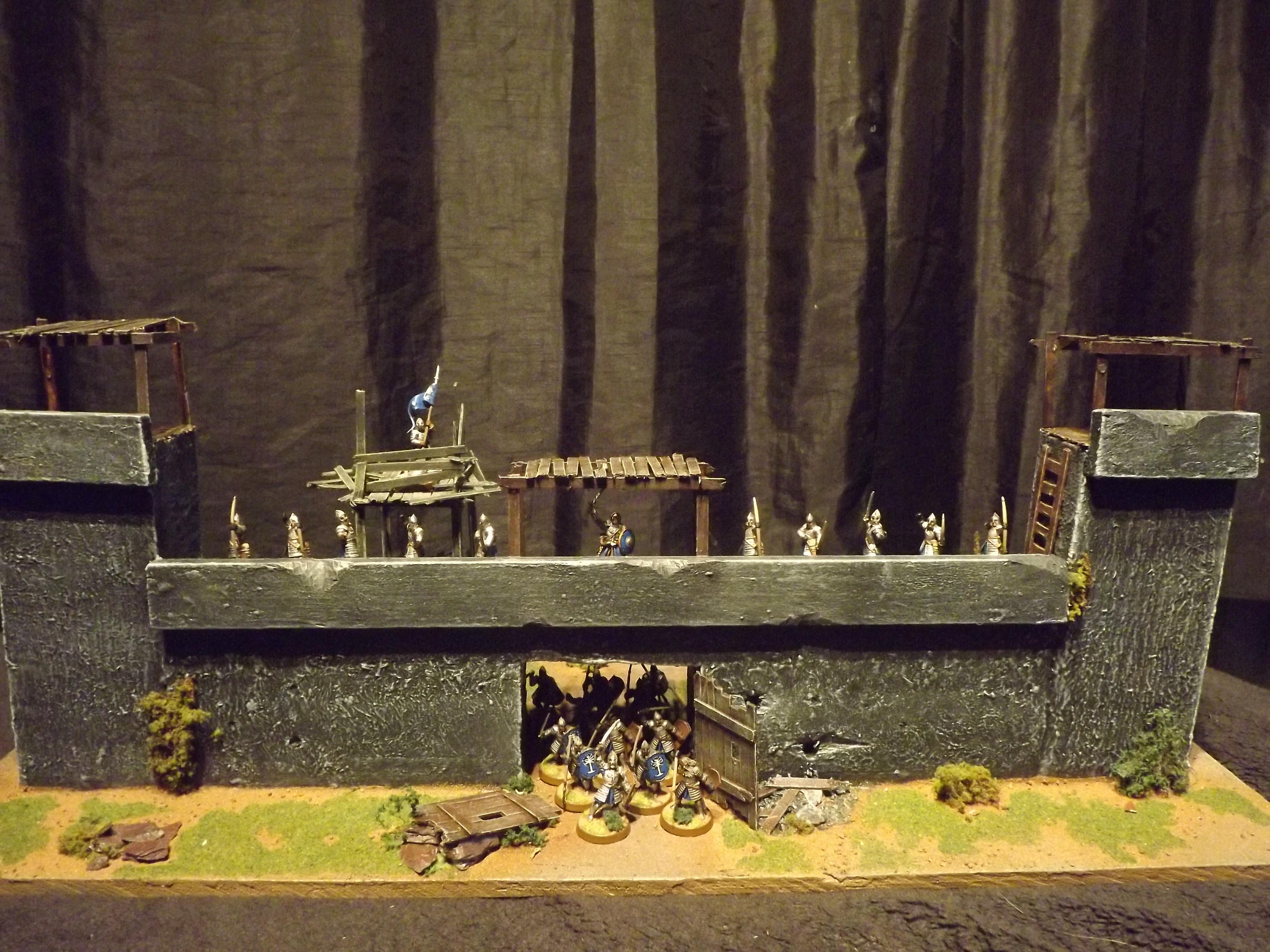 Battle, Castle, Fort, Gondor, Lord Of The Rings, Orcs, Orks, Playing Board, Playing Table, Seige