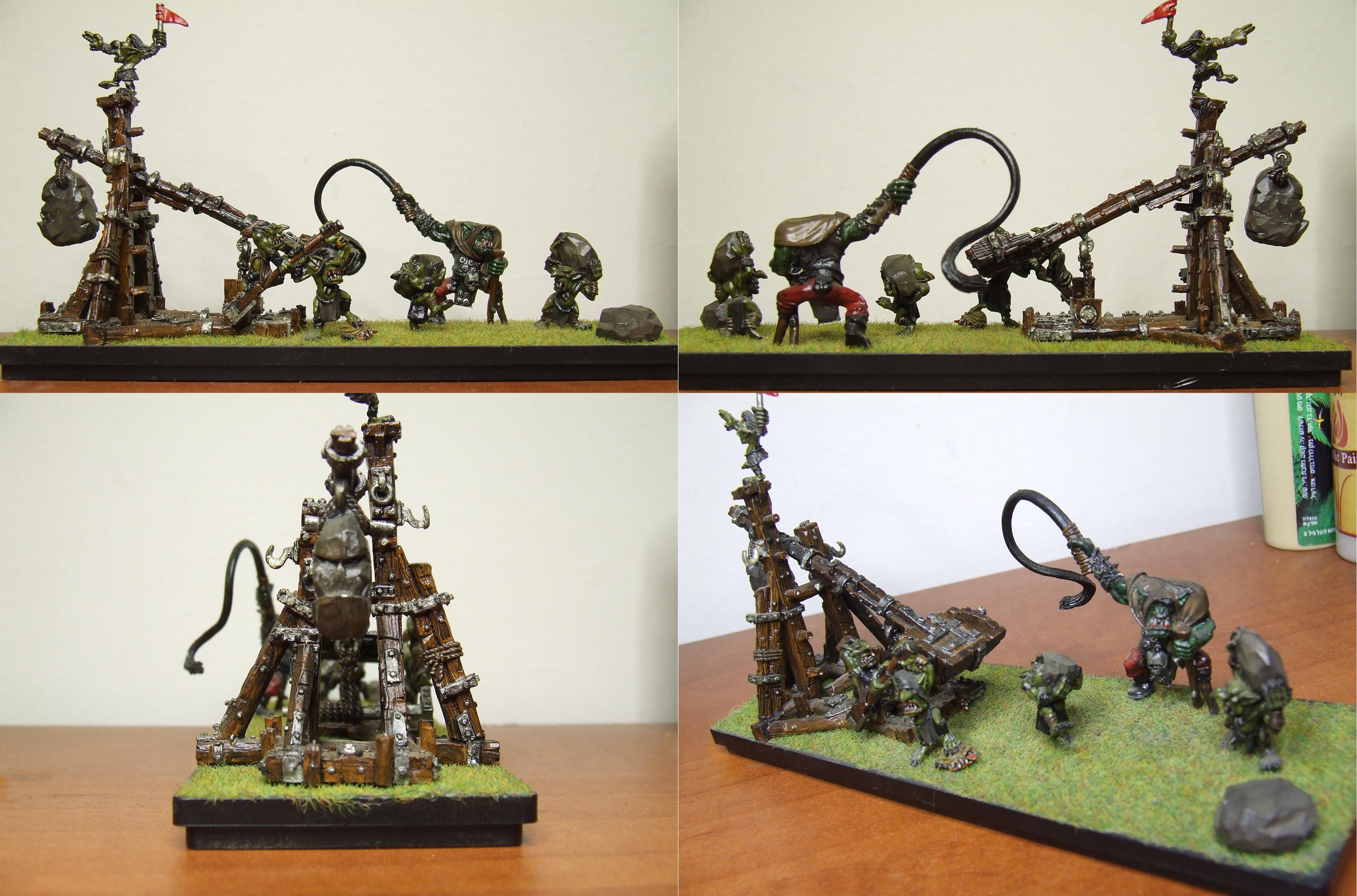Goblins, Orcs, War Machine, Warhammer Fantasy