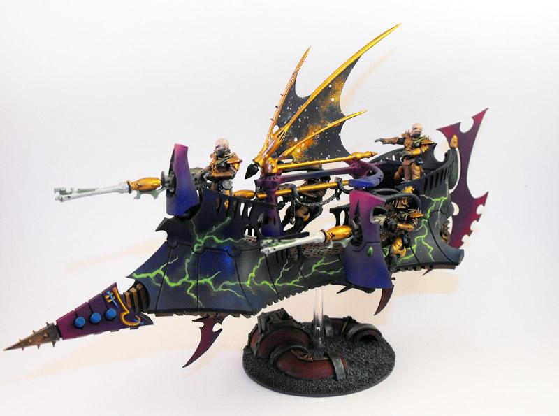 Blue, Dark Eldar, Lightning, Purple, Ravager, Skimmer, Stars