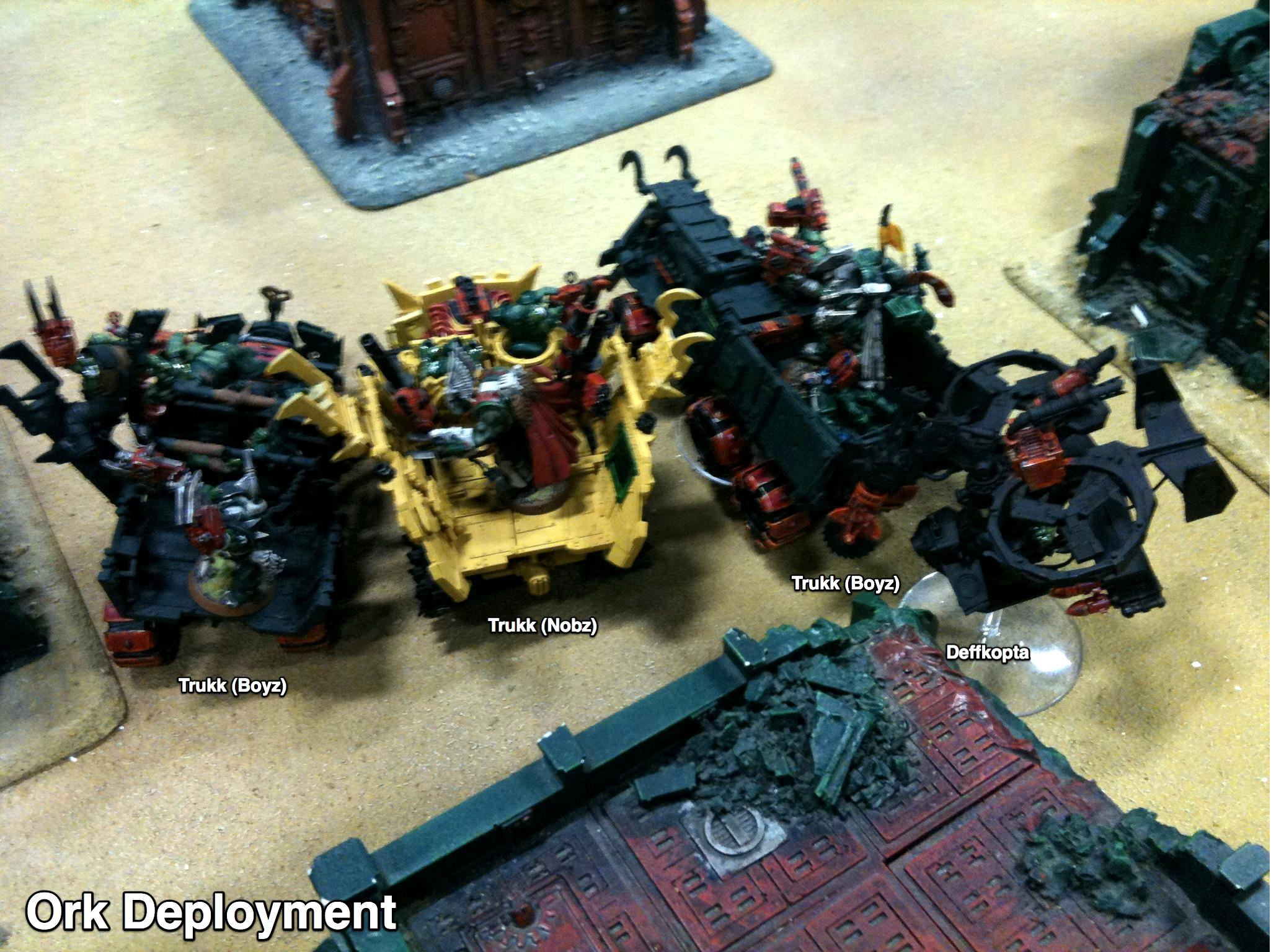Battle Report, Da Ork Angelz, Imperial Guard, Malfian Ivth, Orks