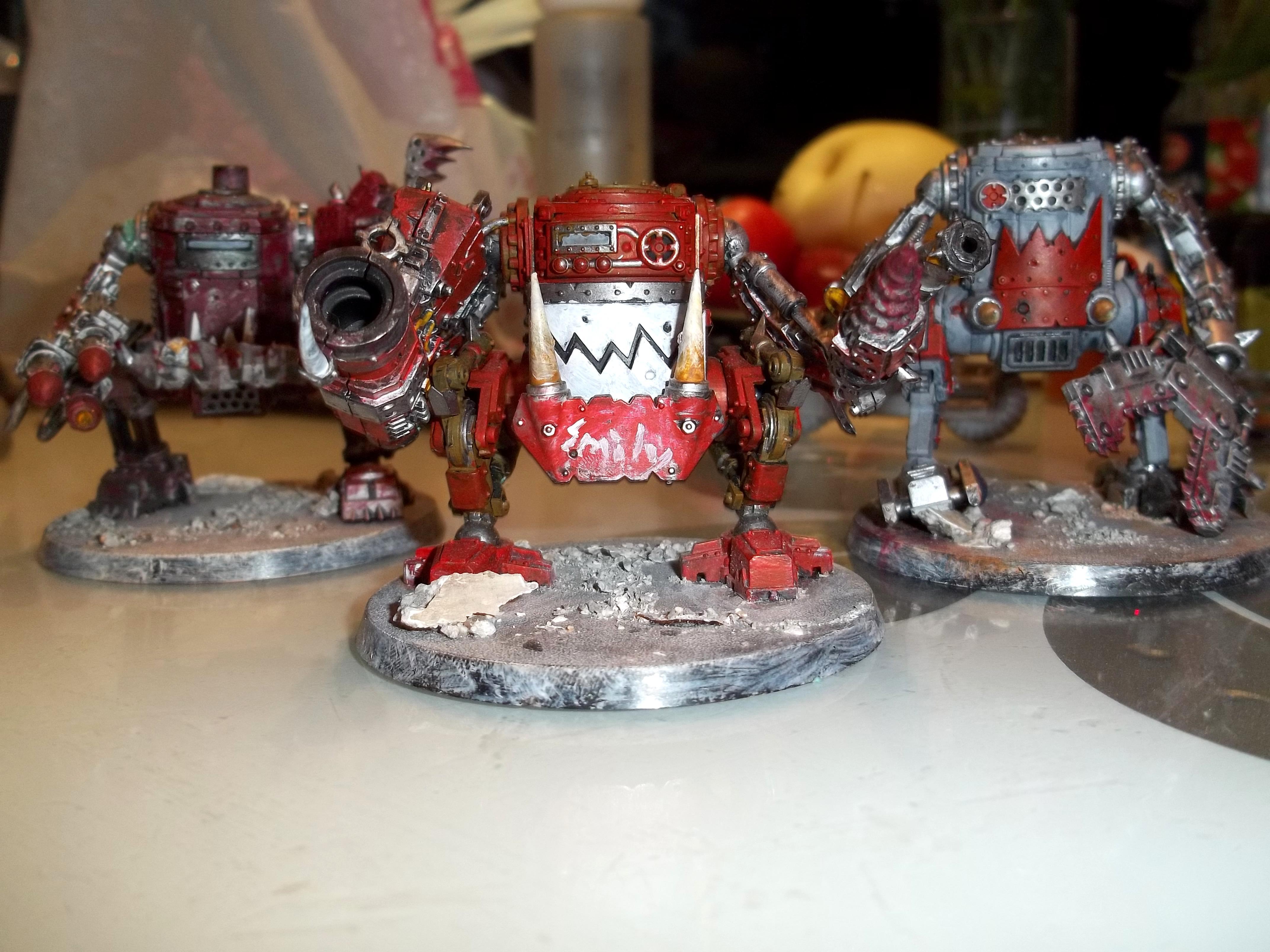 Greyblasta, Killakans, Megablasta, Orks, Painted, Redpaint, Rock Base, Smily, Tinkan, Warhammer 40,000