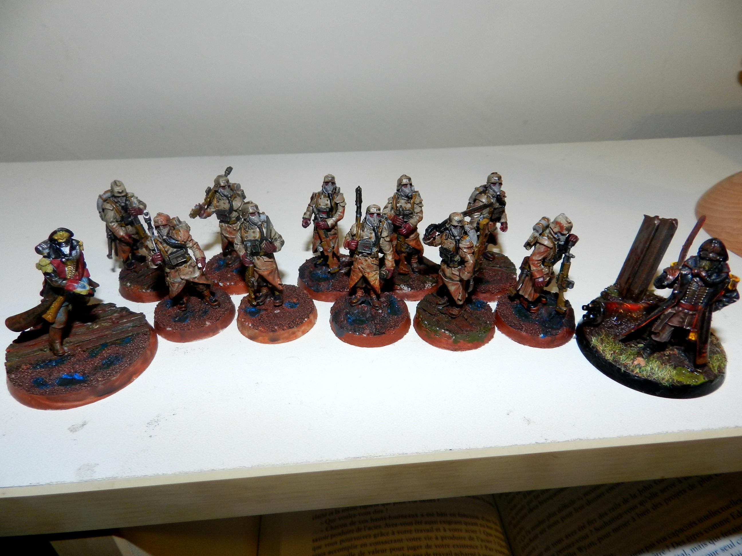 Death Korps of Krieg, Forge World, Imperial Guard, Infantry, Mud, Siege, Squad At Ease