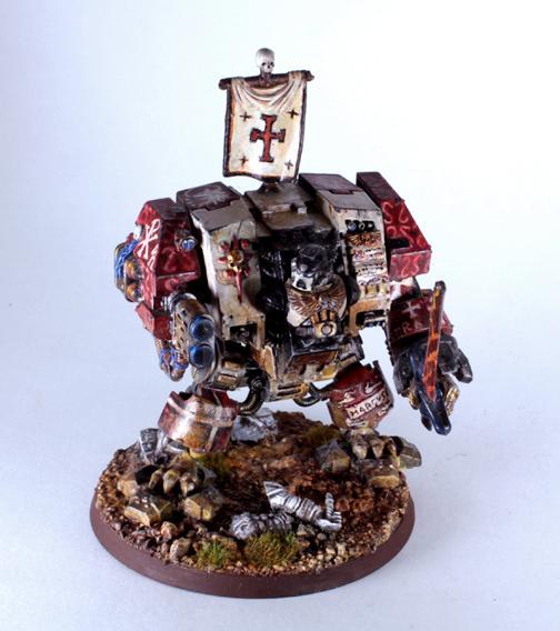 Assault On Black Reach, Black Templars, Conversion, Custom Chapter, Dreadnought, Freehand, Kitbash, Knights, Space Marines, Templar